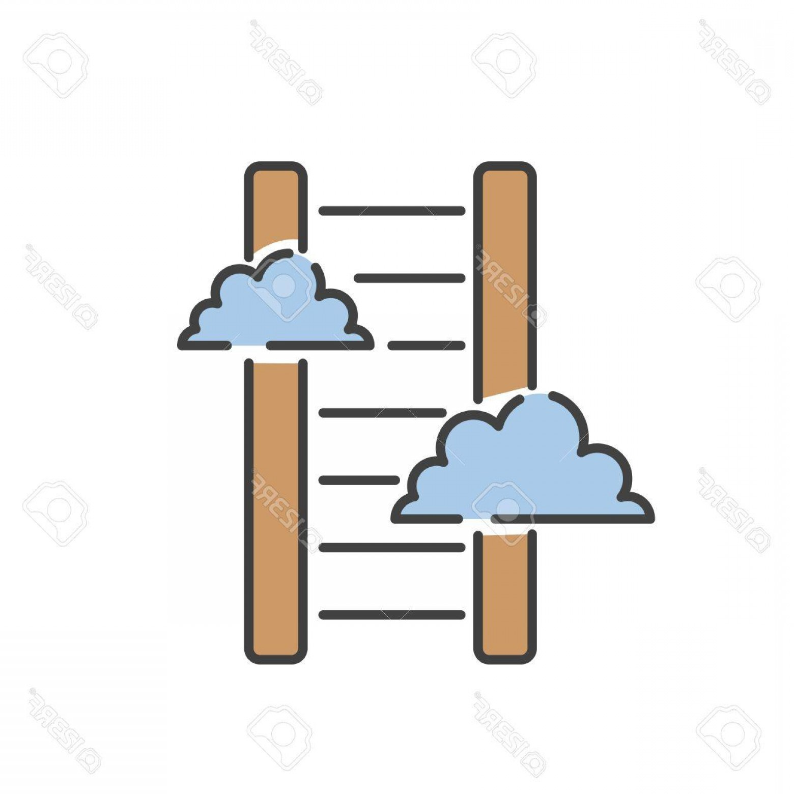 Vector Career Ladder: Photostock Vector Career Ladder Thin Line Icon Vector