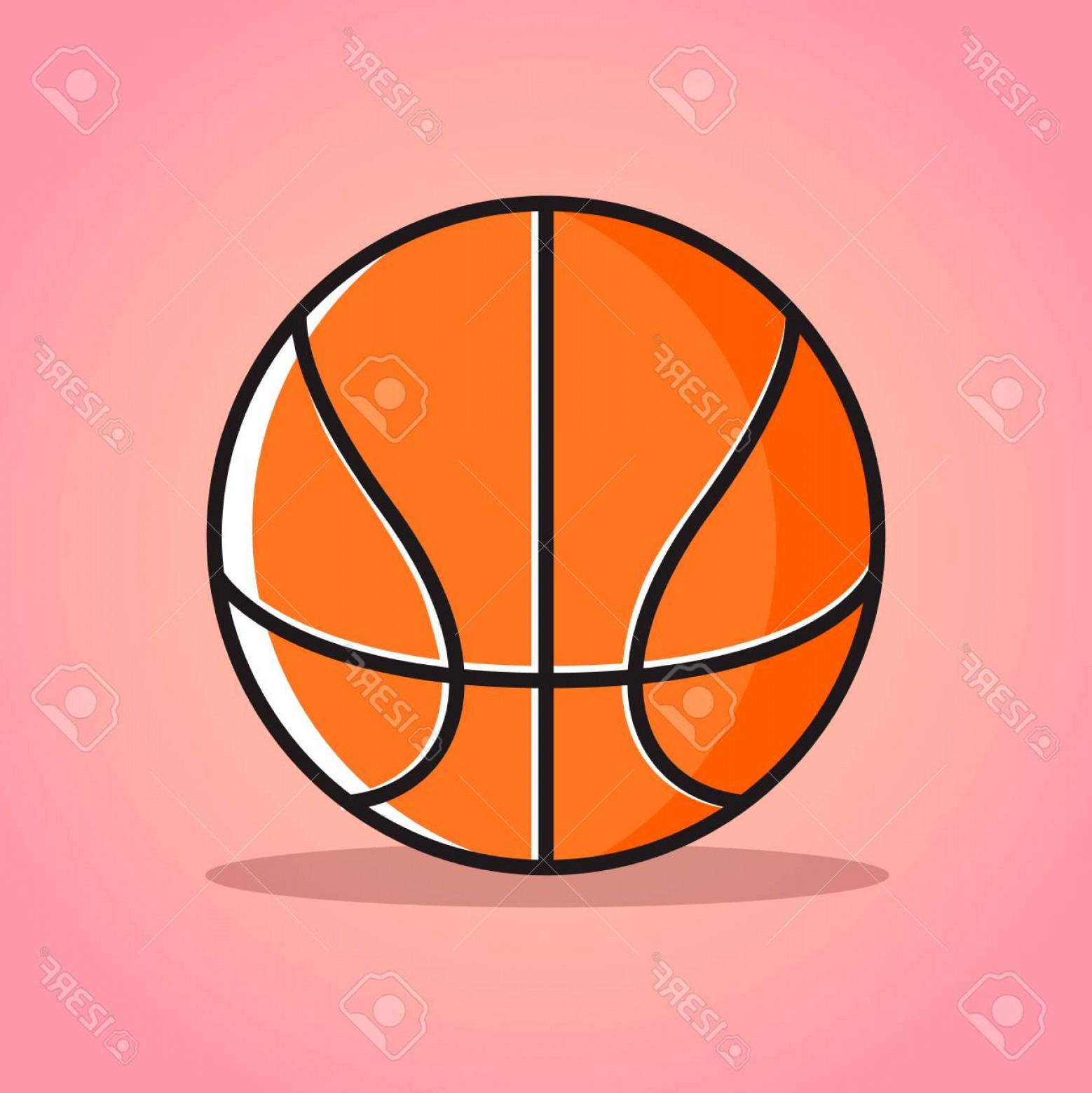 Cartoon Basketball Vector: Photostock Vector Cartoon Basketball Ball Vector