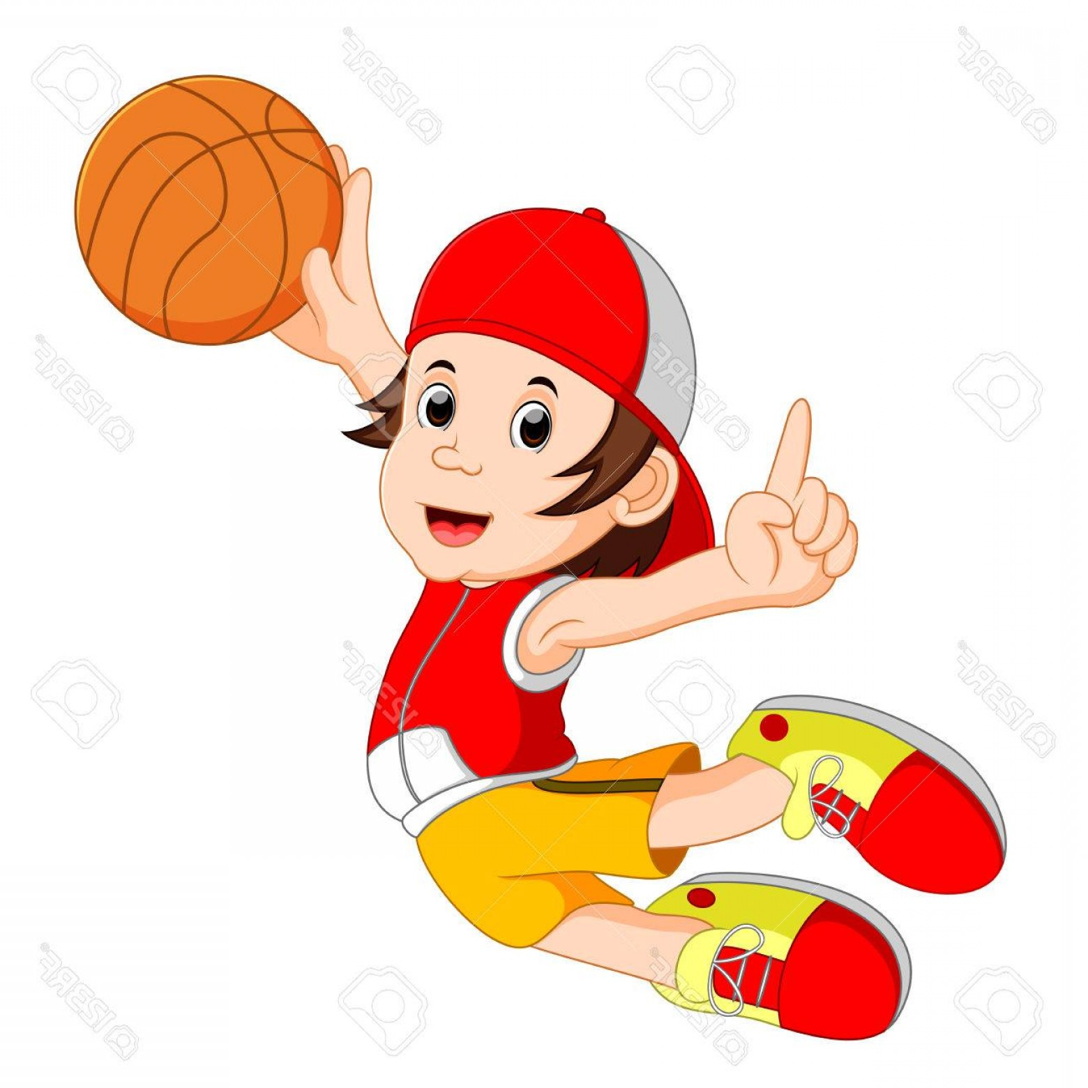 Cartoon Basketball Vector: Photostock Vector Cartoon Basketball Player Vector Illustration
