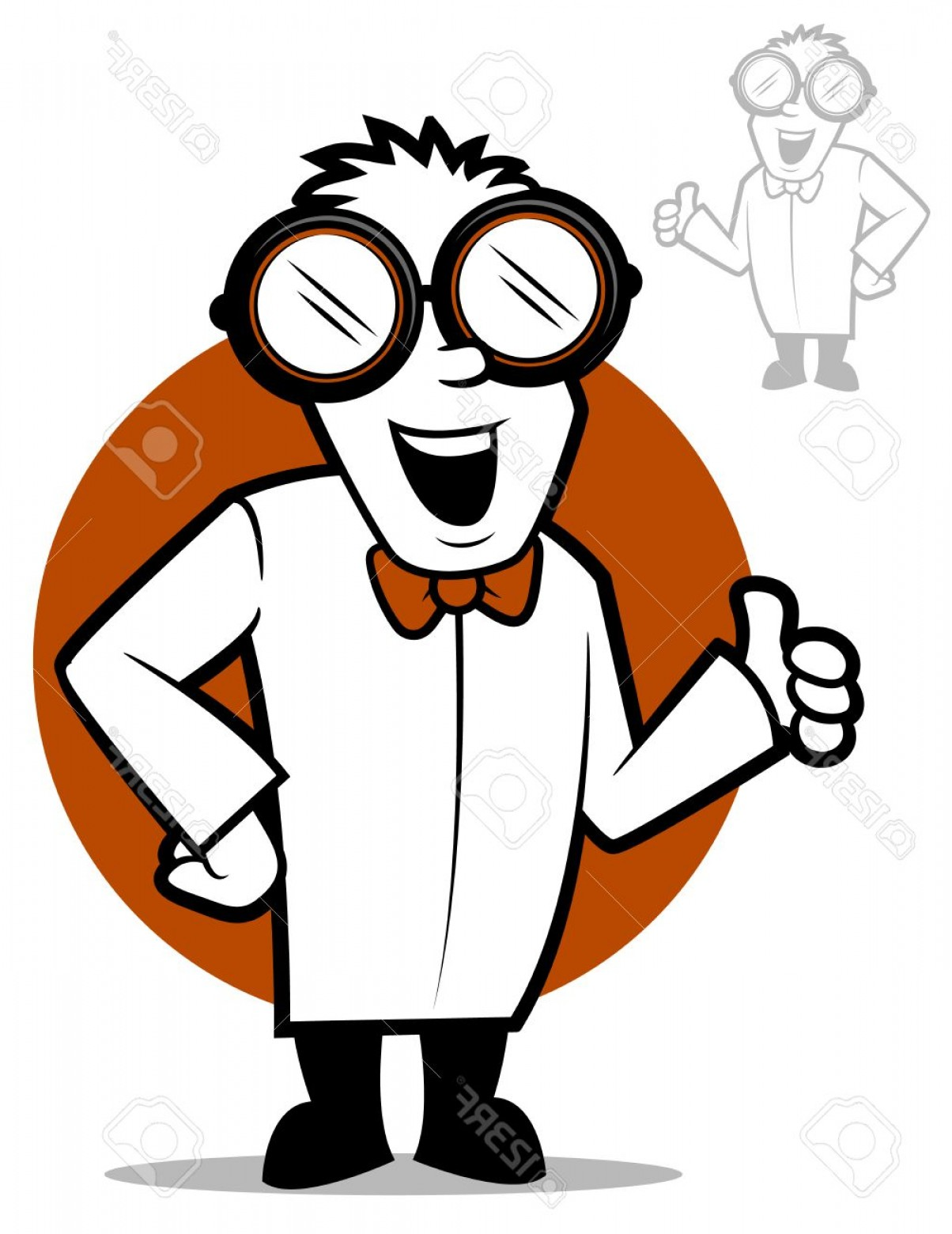 Lab Coat Cartoon Vector: Photostock Vector Cartoon Doctor Wearing Safety Goggles And A Lab Coat