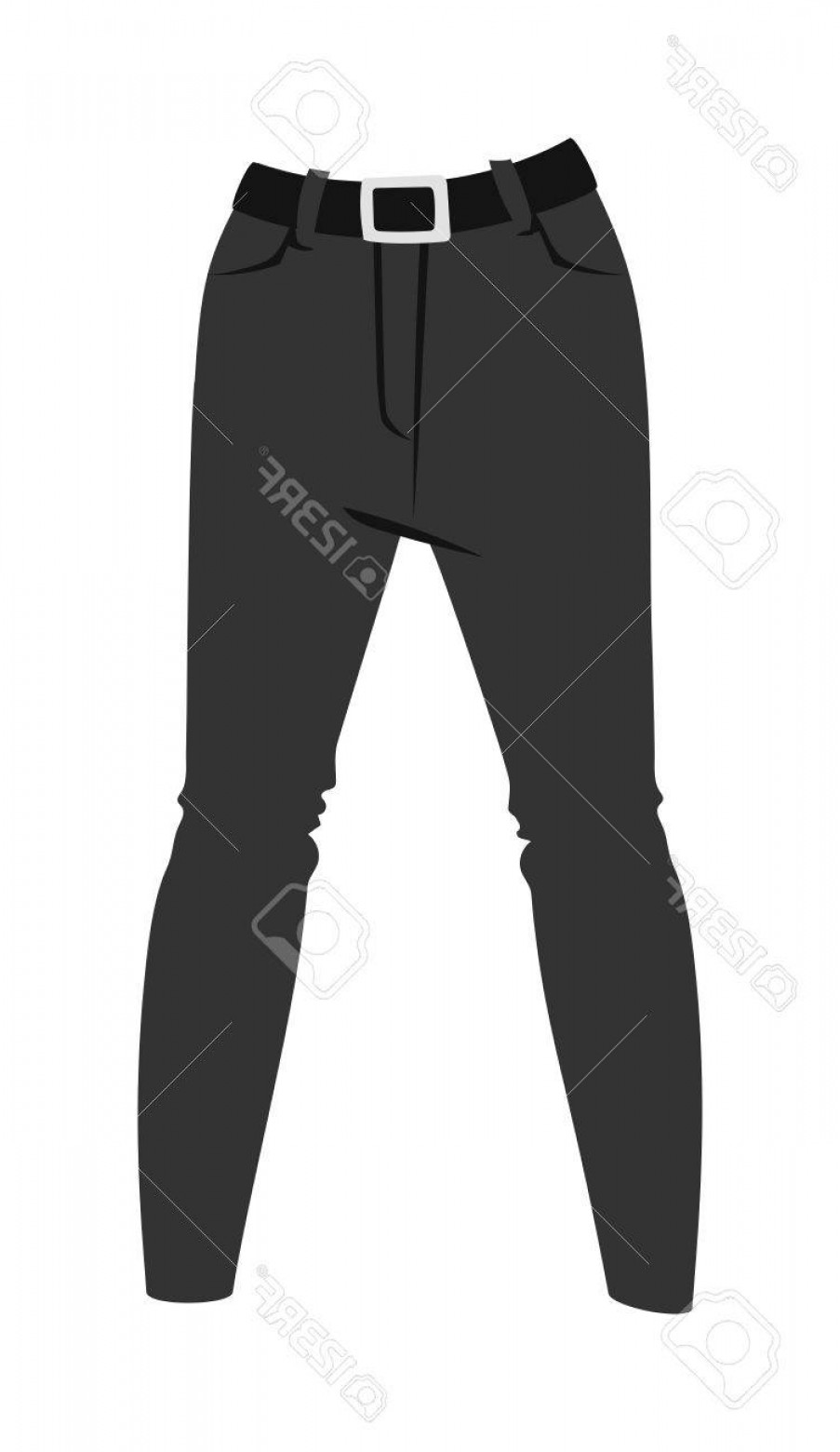 Vector Black Jeans: Photostock Vector Cartoon Jeans Trousers Details Silhouettes Of Denim Menswear Black Jeans On White Jeans Casual Isola