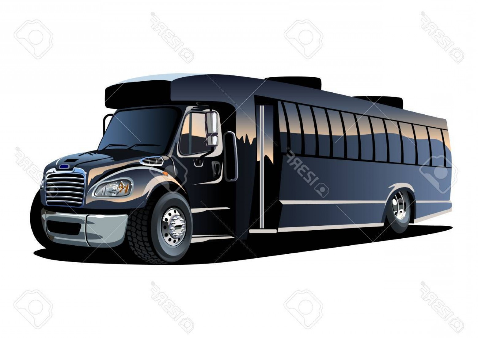 Pic Bus Vector Format: Photostock Vector Cartoon Shuttle Bus Available Eps Vector Format Separated By Groups And Layers