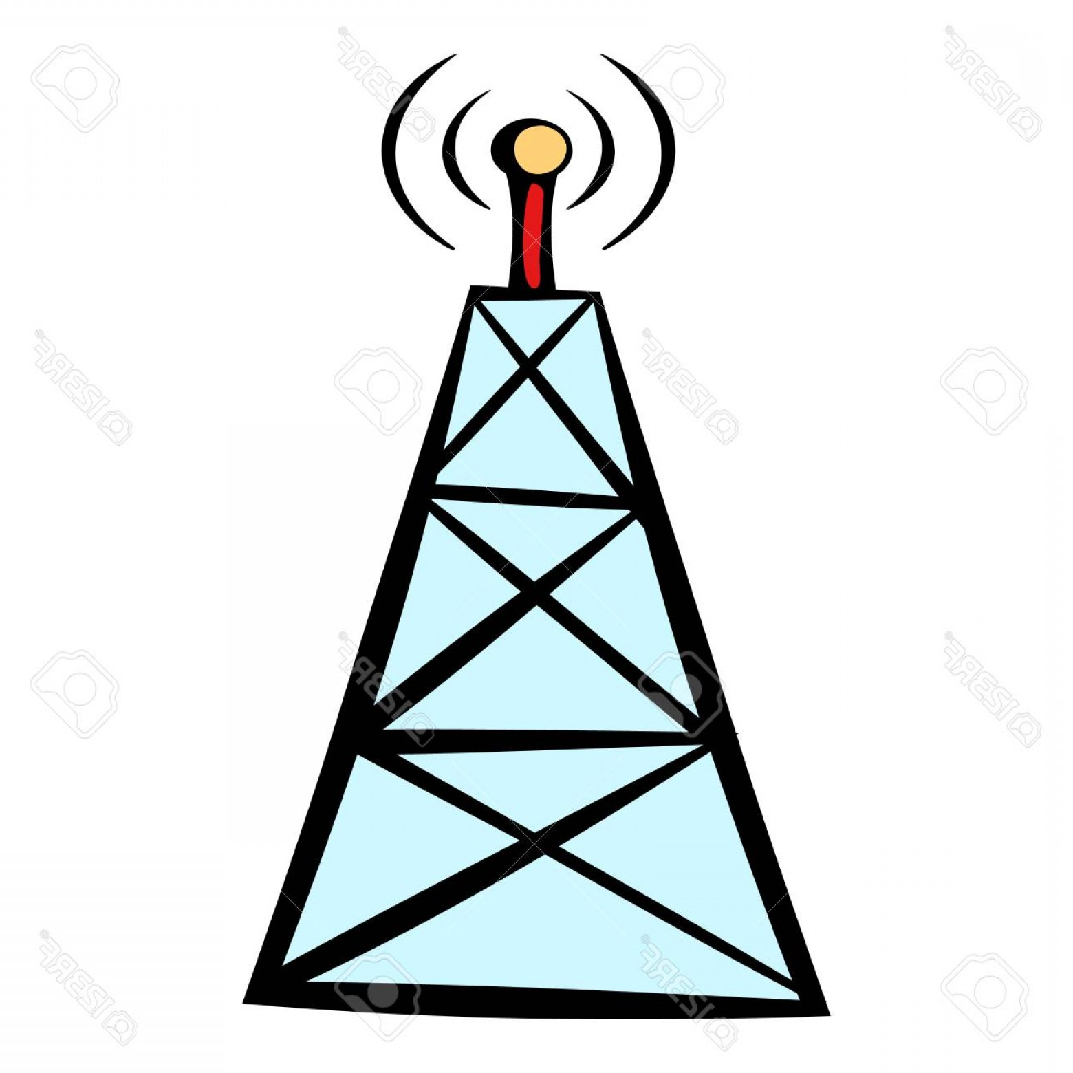 Vector Phone Tower: Photostock Vector Cell Phone Tower Icon Icon Cartoon