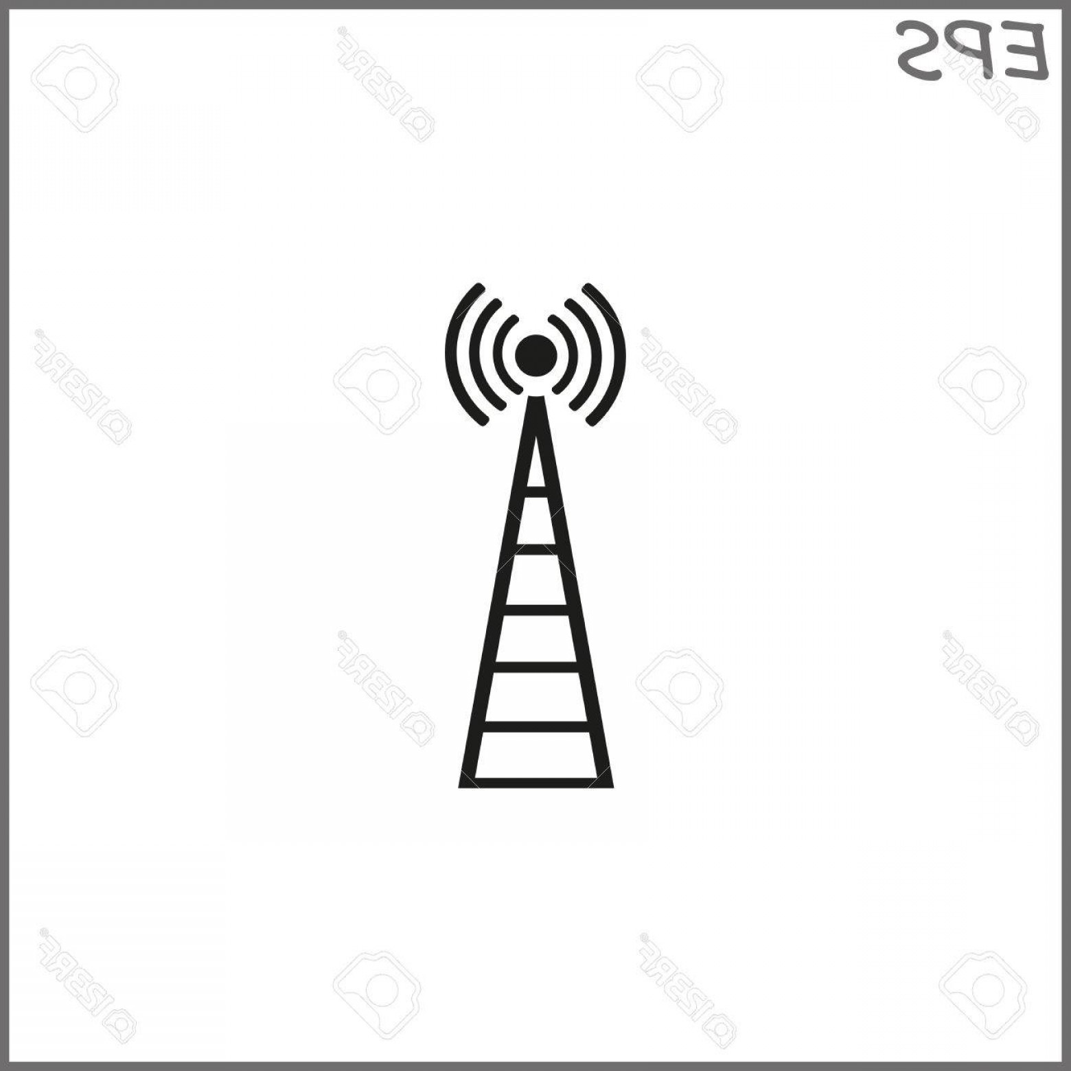 Vector Phone Tower: Photostock Vector Cell Phone Tower Vector Icon