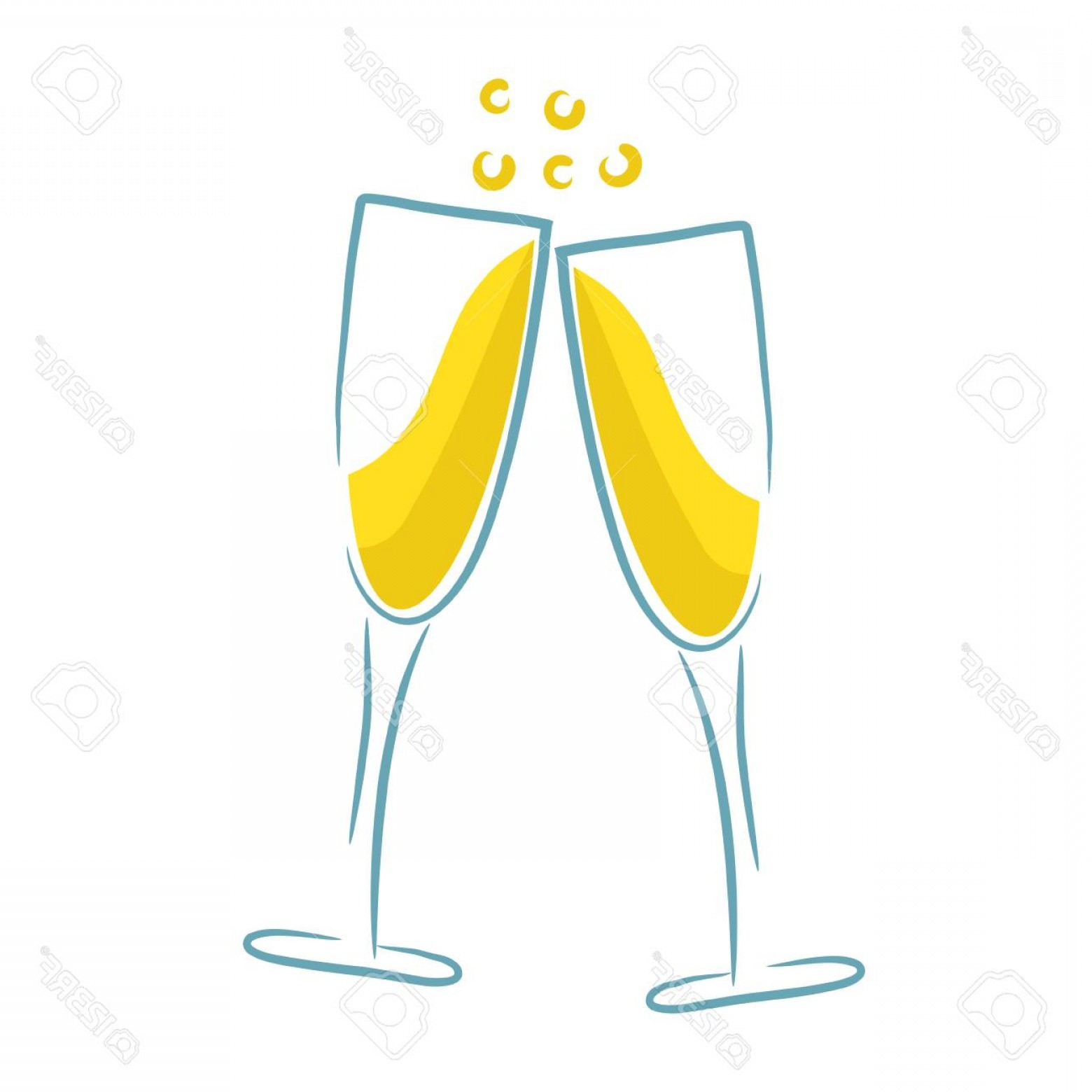Vector Champagne Party: Photostock Vector Champagne Glass Design Party Menu Background Stock Vector Illustration
