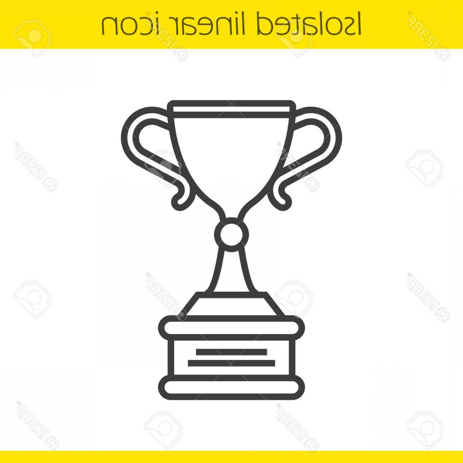 Ice Champions Cup Vector: Photostock Vector Champion Cup Linear Icon Thin Line Illustration Ice Hockey Championship Winner S Award Contour Symbo