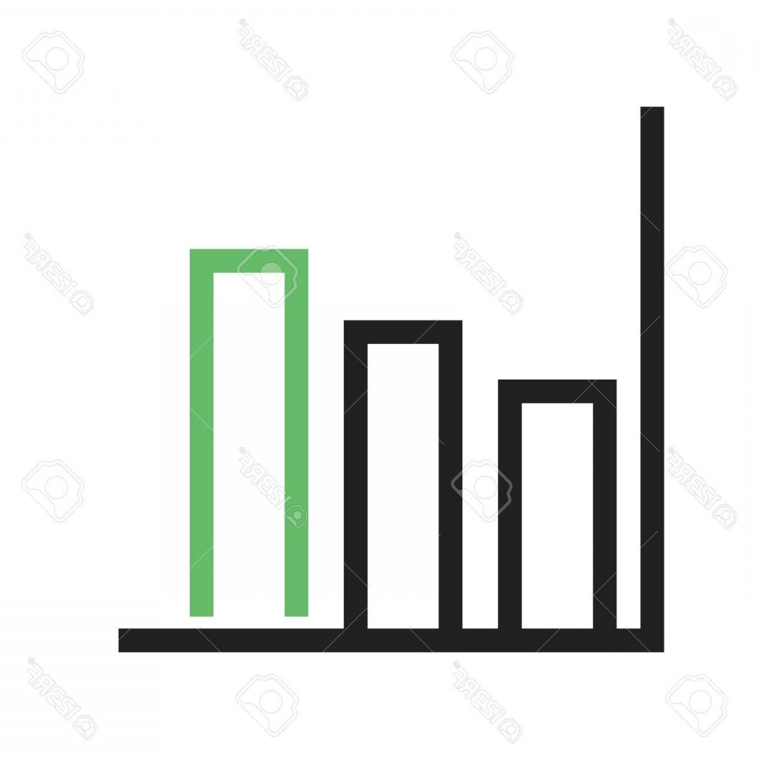 Bar Graph Icon Vector: Photostock Vector Chart Bar Graph Icon Vector Image Can Also Be Used For Business Management Suitable For Use On Web A