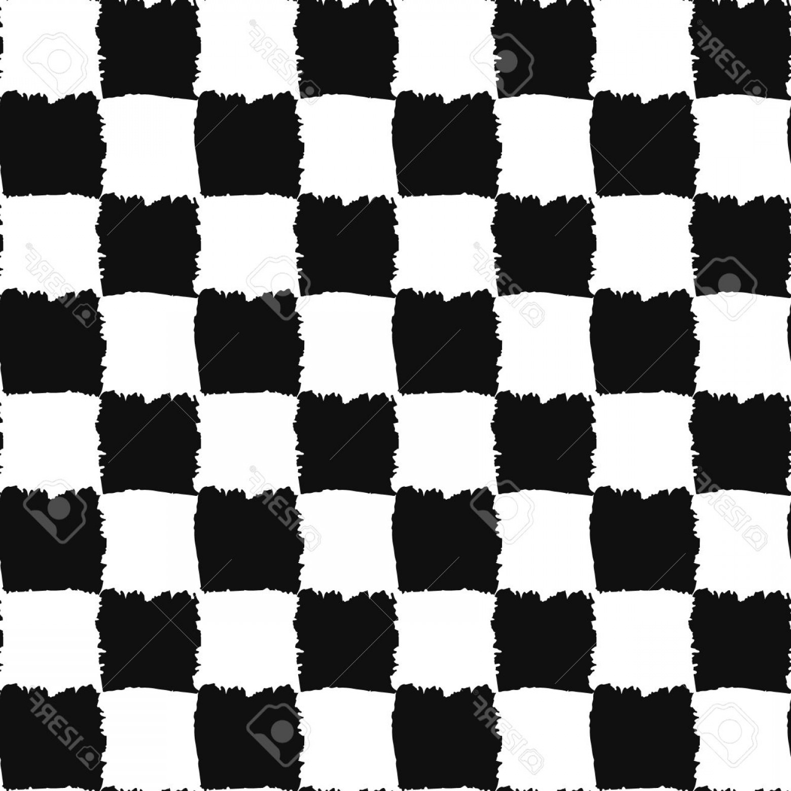 Checker Vector Template: Photostock Vector Check Black And White Seamless Pattern Checkers Board Vector Painted Design Brush Strokes Texture Gr