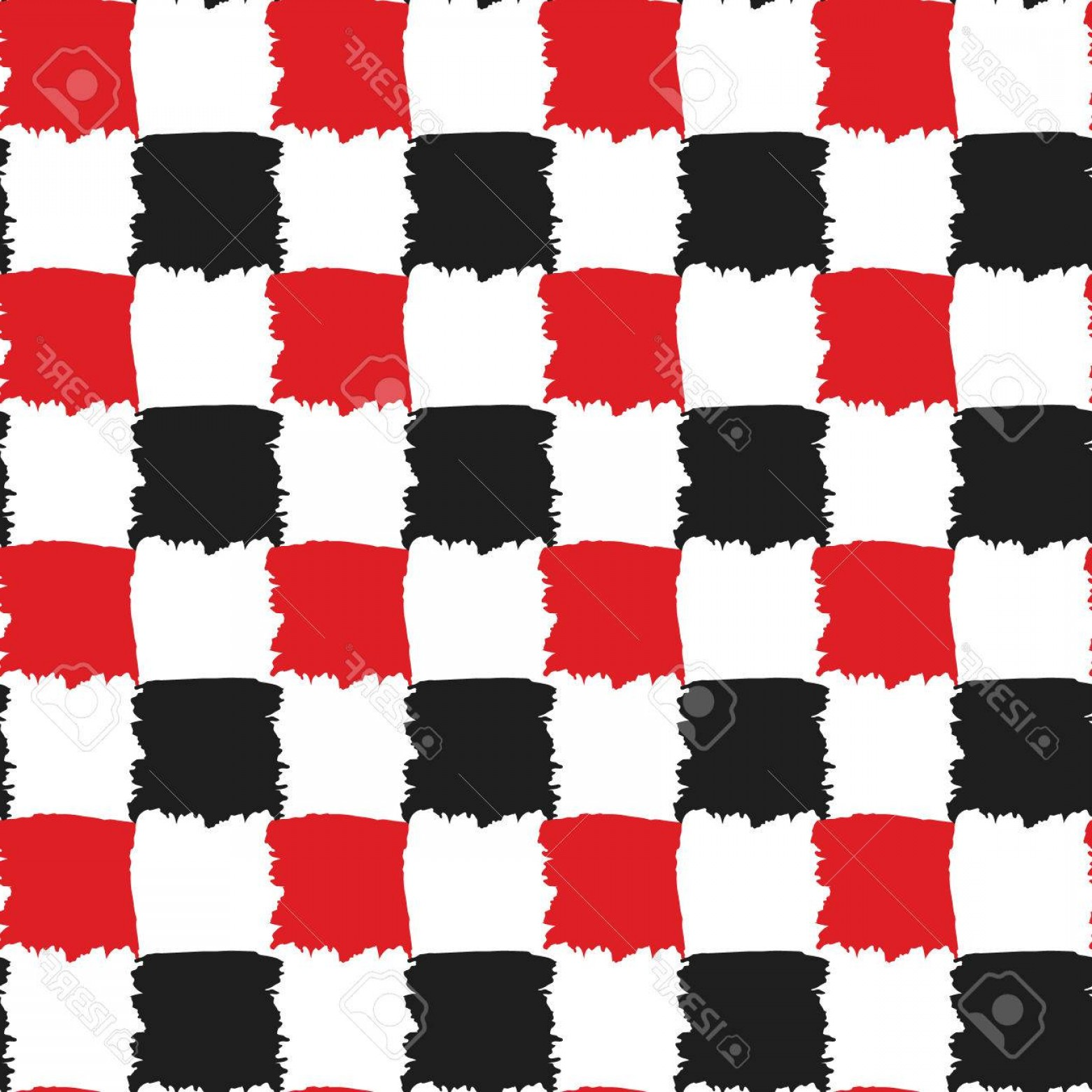 Checker Vector Template: Photostock Vector Check Black Red And White Seamless Pattern Checkers Board Painted Vector Design Brush Stroke Texture
