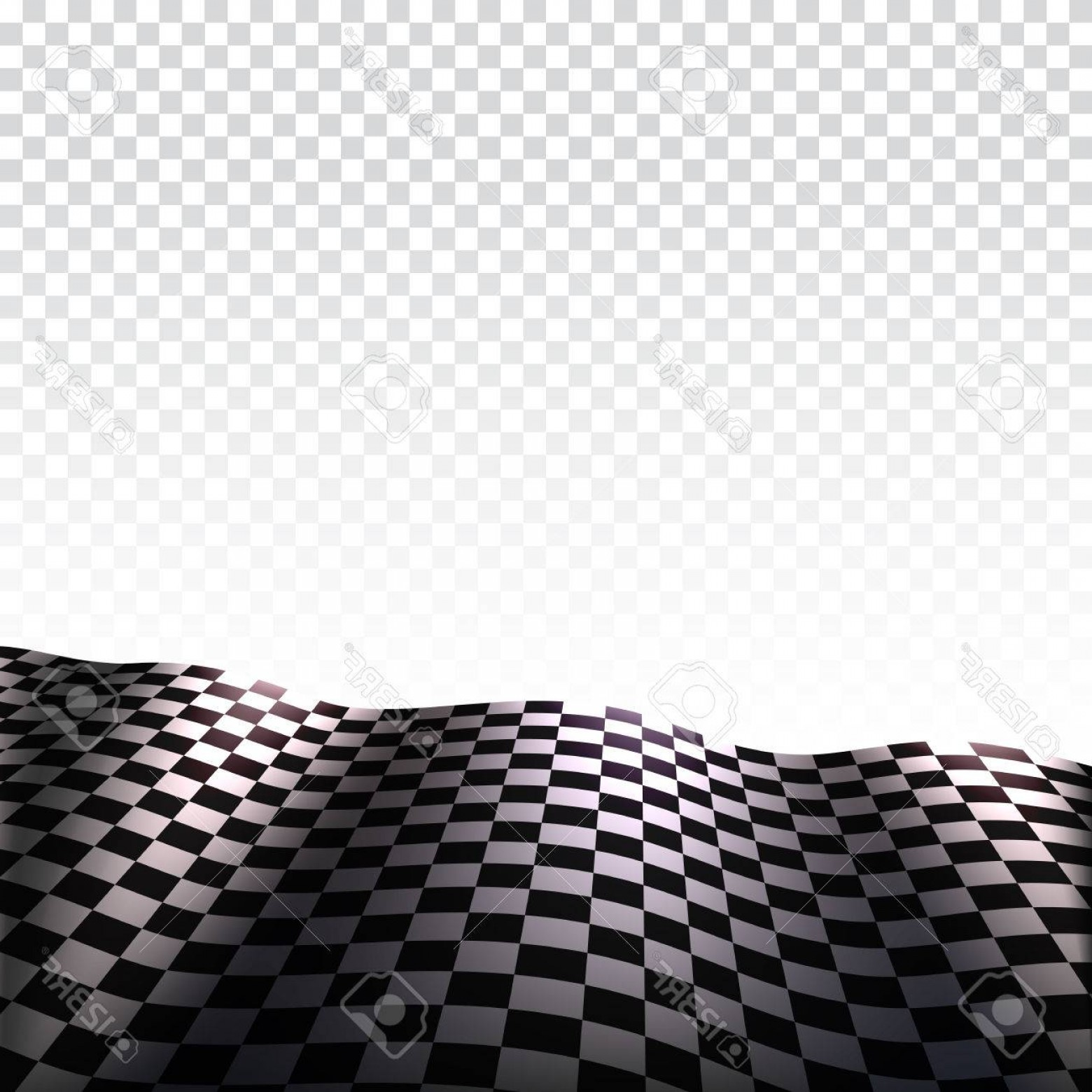 Checker Vector Template: Photostock Vector Checkered Flag On Transparent Background Sports Flag Of Black And White Squares With Place For Promo