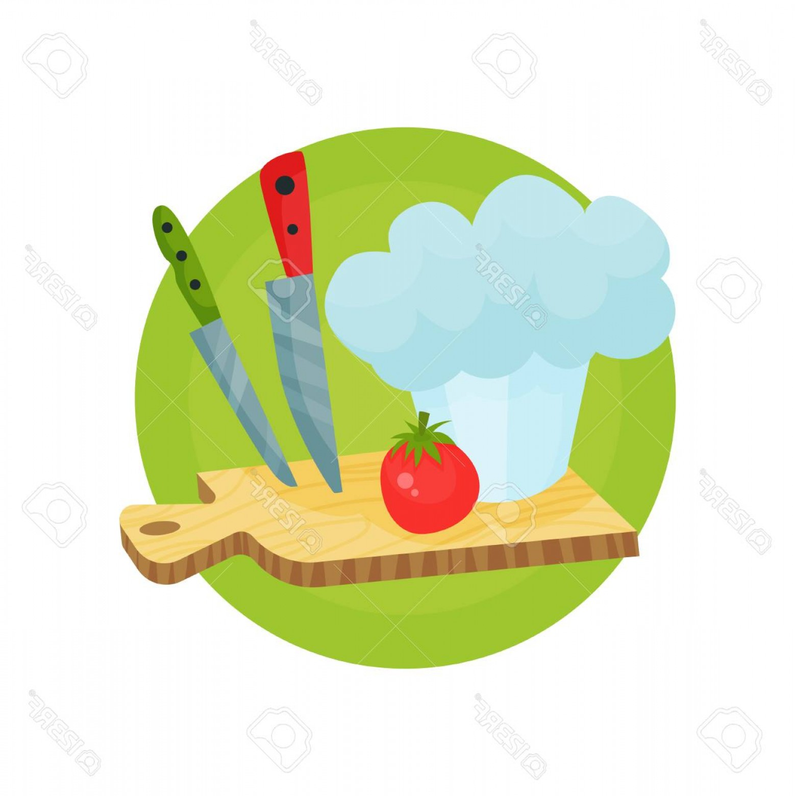 Photostock Vector Chef Profession Icon Chef Hat With Kitchen ...