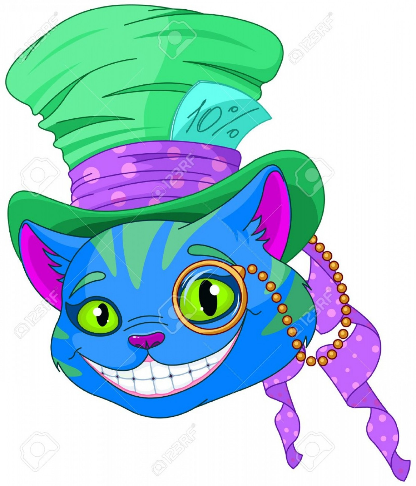Dr. Seuss Hat Vector: Photostock Vector Cheshire Cat In Top Hat And Monocle
