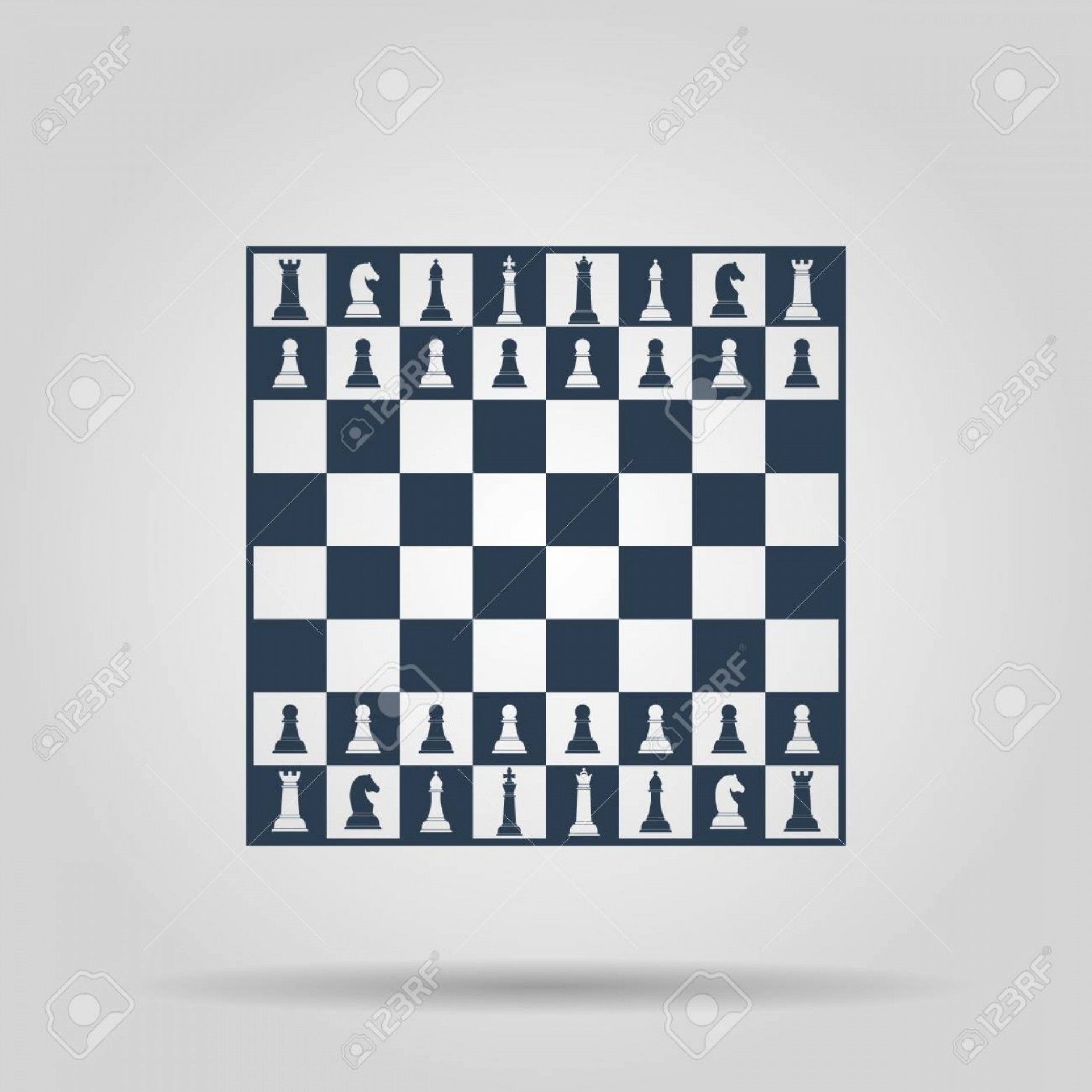 Vector Chess Board: Photostock Vector Chess Board Vector Concept Illustration For Design