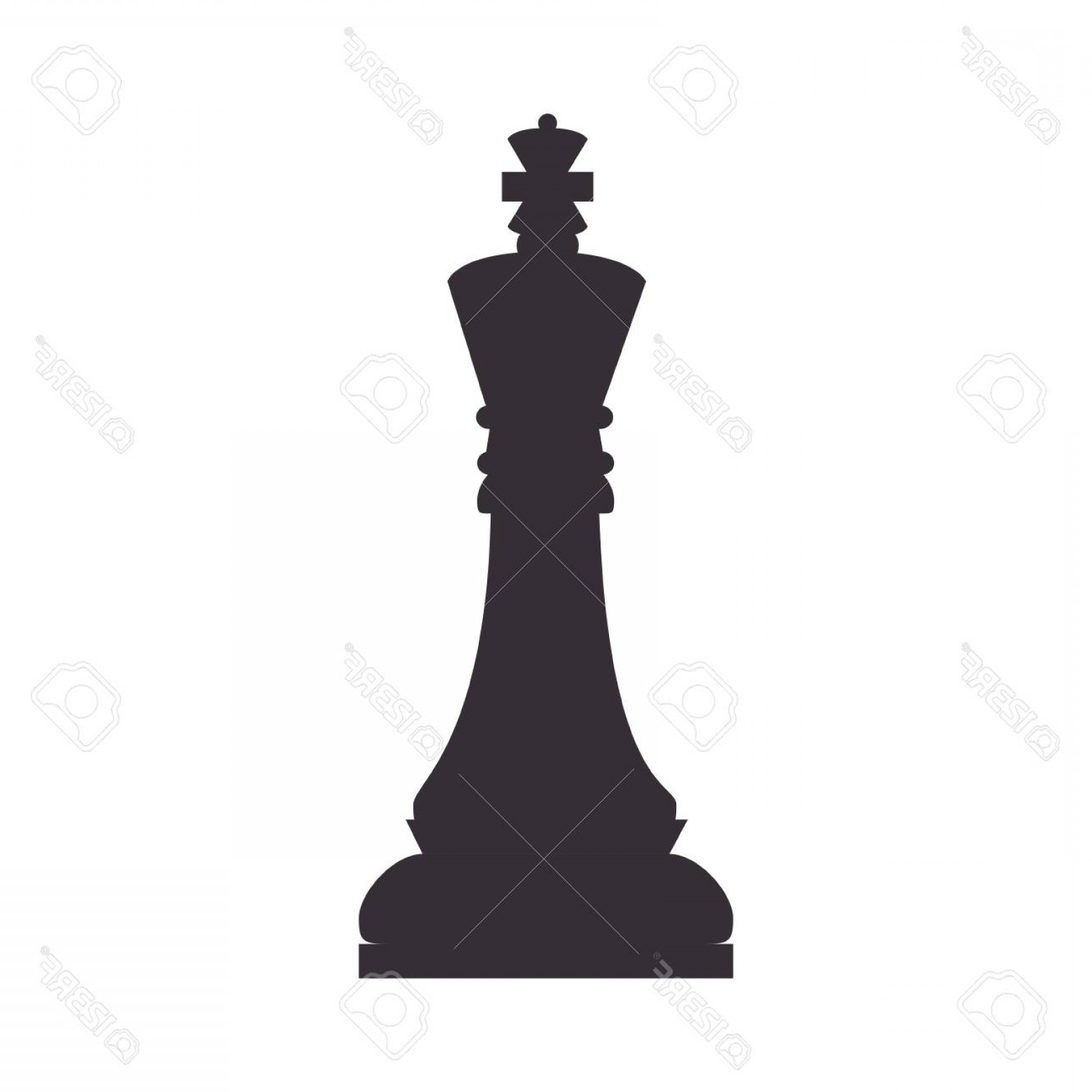 Vector Chess Board: Photostock Vector Chess Piece Game King Chessboard Strategy Silhouette Vector Illustration