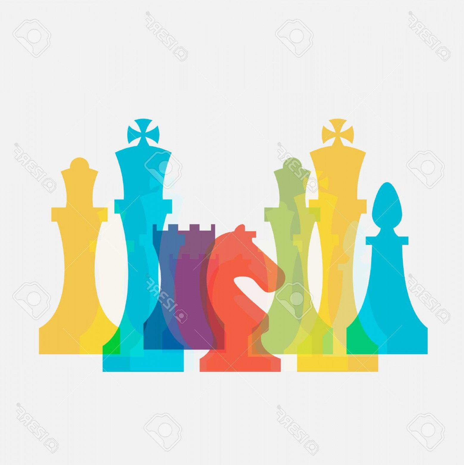 Chess Vector Background: Photostock Vector Chess Pieces Business Sign Corporate Identity Template For Chess Club Or Chess School Standard Chess