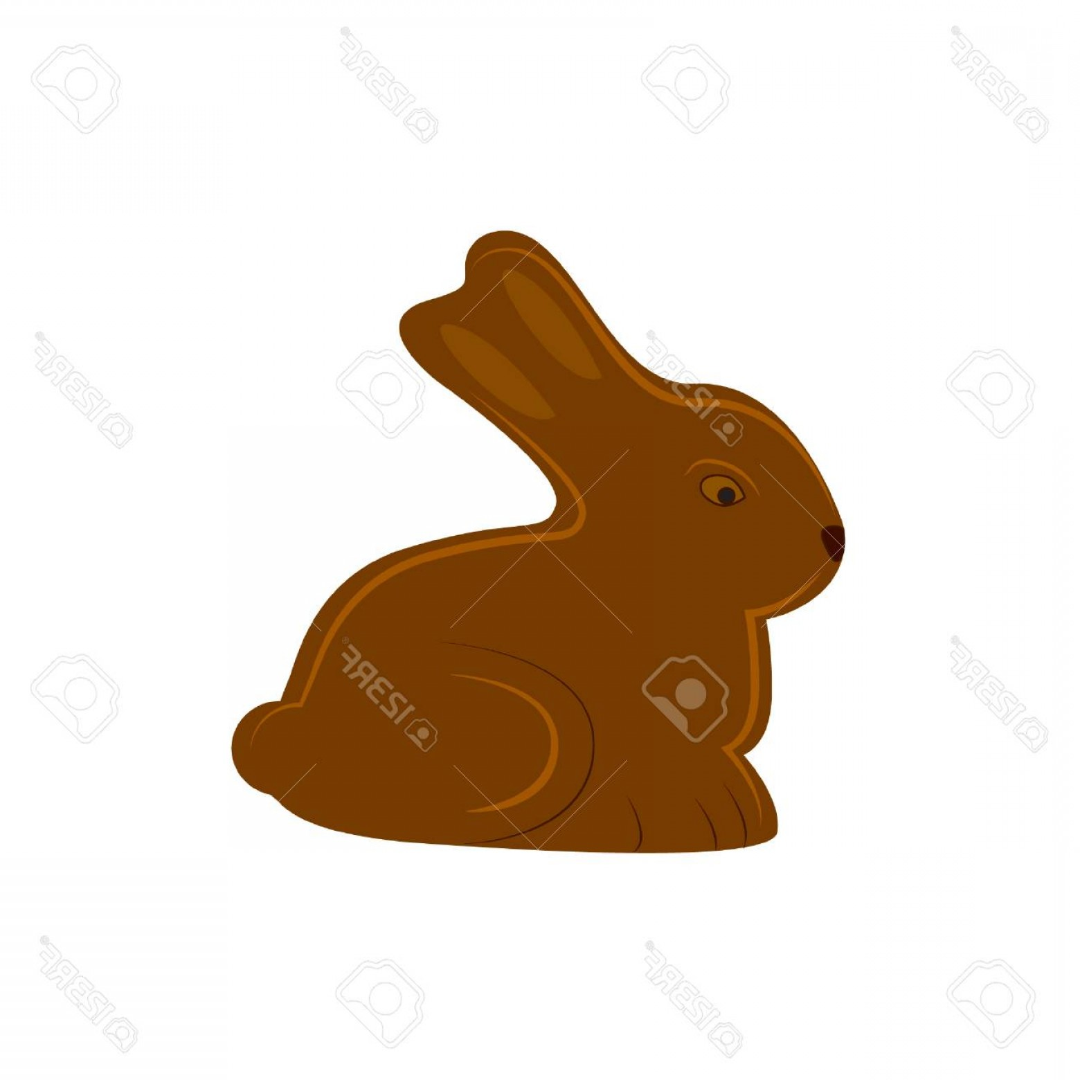 Chocolate Bunny Vector: Photostock Vector Chocolate Bunny Vector Rabbit Icon