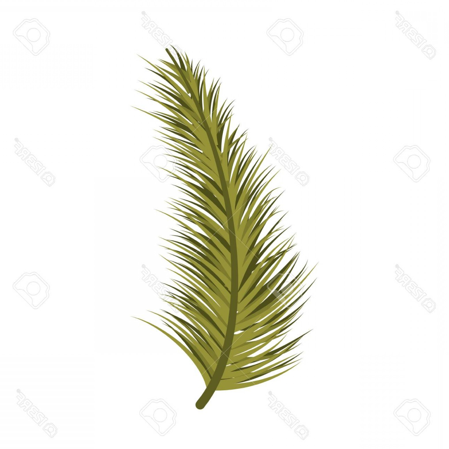 Pine Leaf Vector: Photostock Vector Christmas Decoration Tree Pine Leaf Vector Illustration