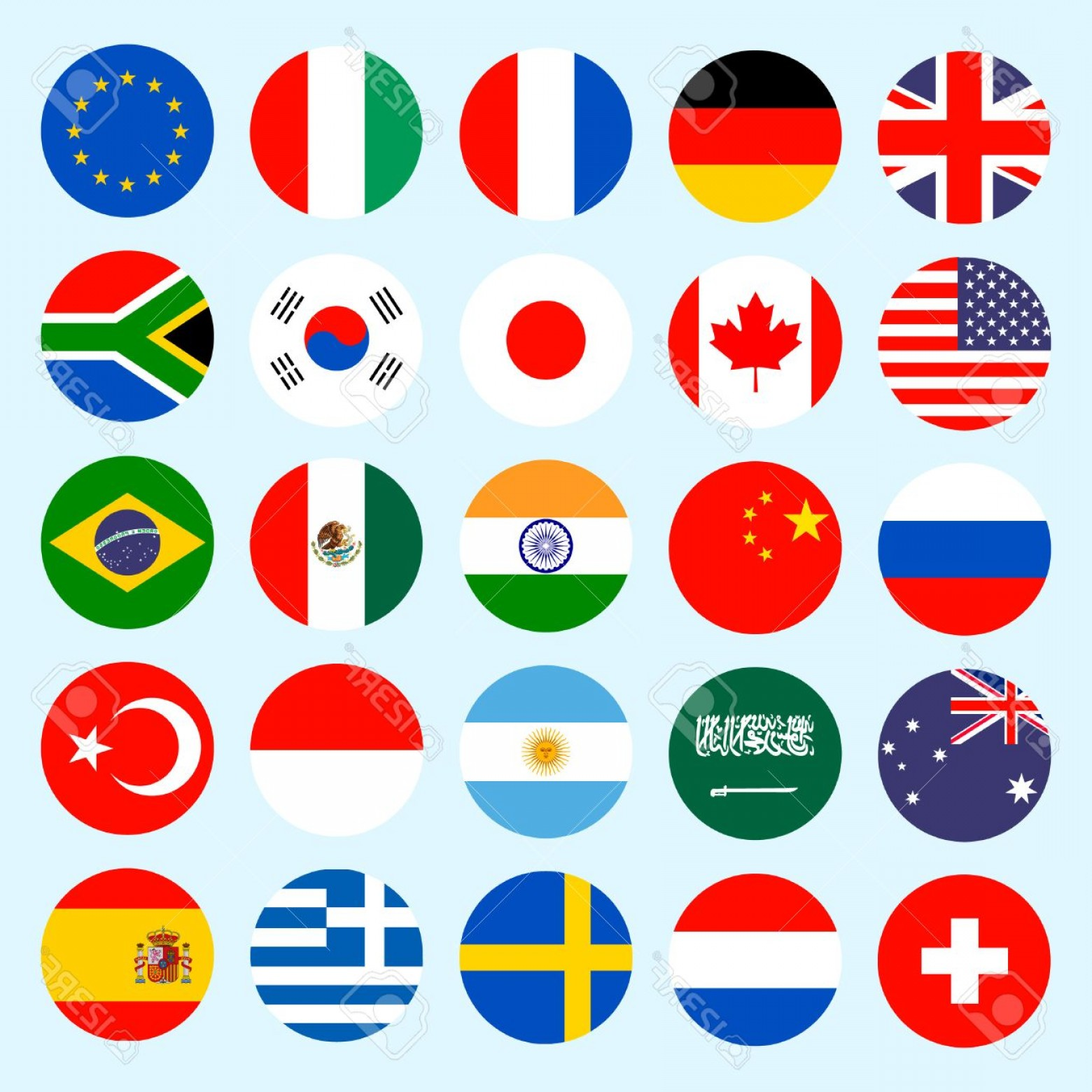 World Icon Vector Simple: Photostock Vector Circle Flags Vector Of The World Flags Icons In Flat Style Simple Vector Flags Of The Countries
