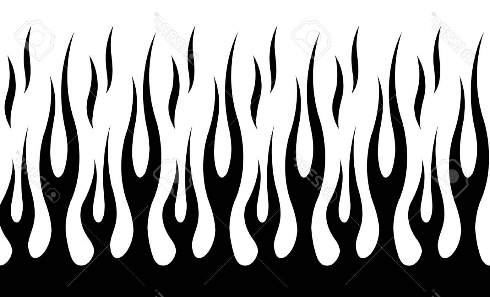 Tribal Flames Vector Car: Photostock Vector Classic Tribal Hotrod Muscle Car Flame Pattern Can Be Used As Decals Or Even Tattoos Too