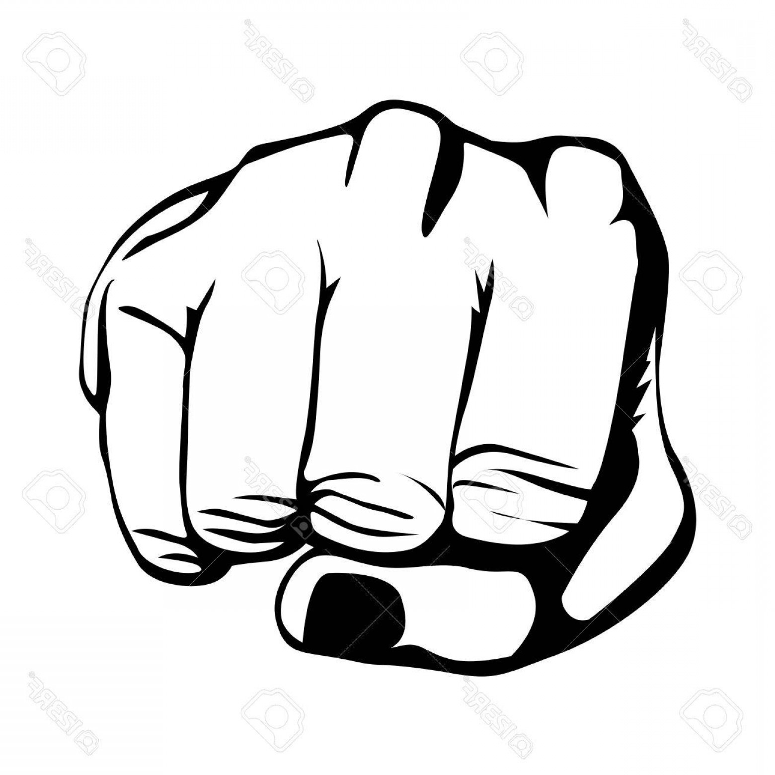 Hand Fist Vector: Photostock Vector Clenched Fist Hand Gesture Icon Image Vector Illustration