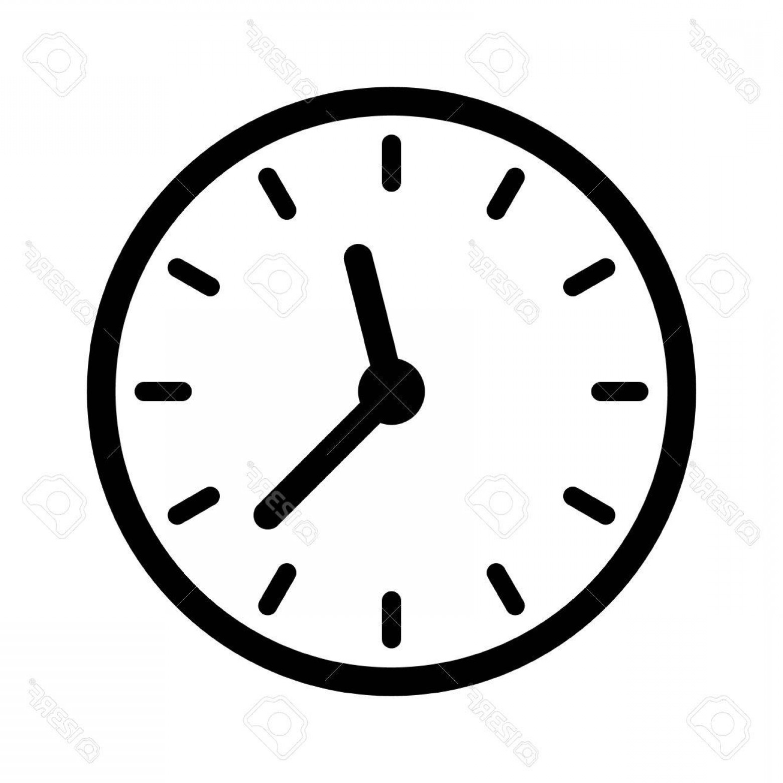 Watch Face Vector: Photostock Vector Clock Face Clockface Or Watch Face With Hands Line Art Icon For Apps And Websites