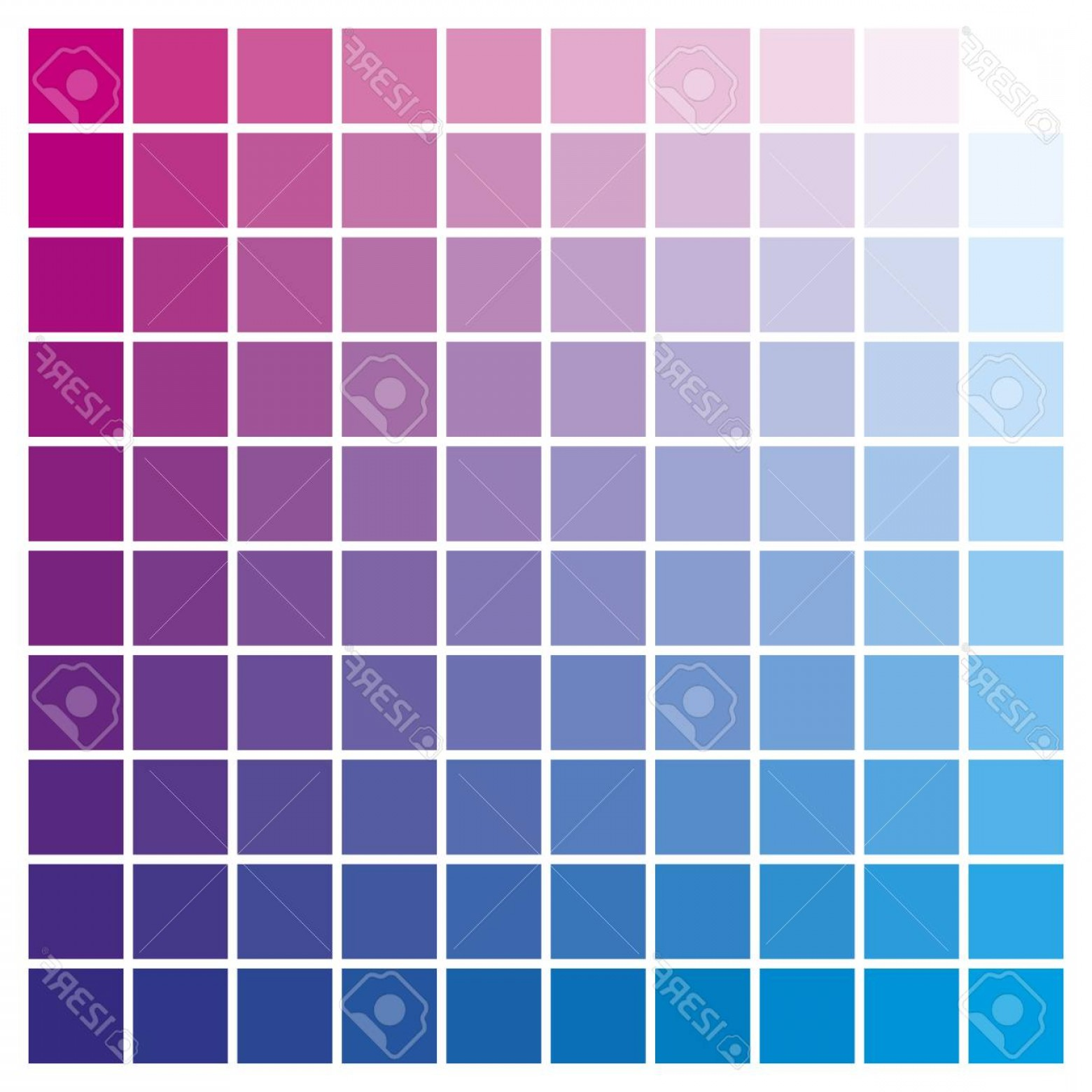 Color CMYK Chart Vector Free: Photostock Vector Cmyk Color Chart To Use In Prepress And Printing Used To Pick Color Swatches Cyan And Magenta Are Ba