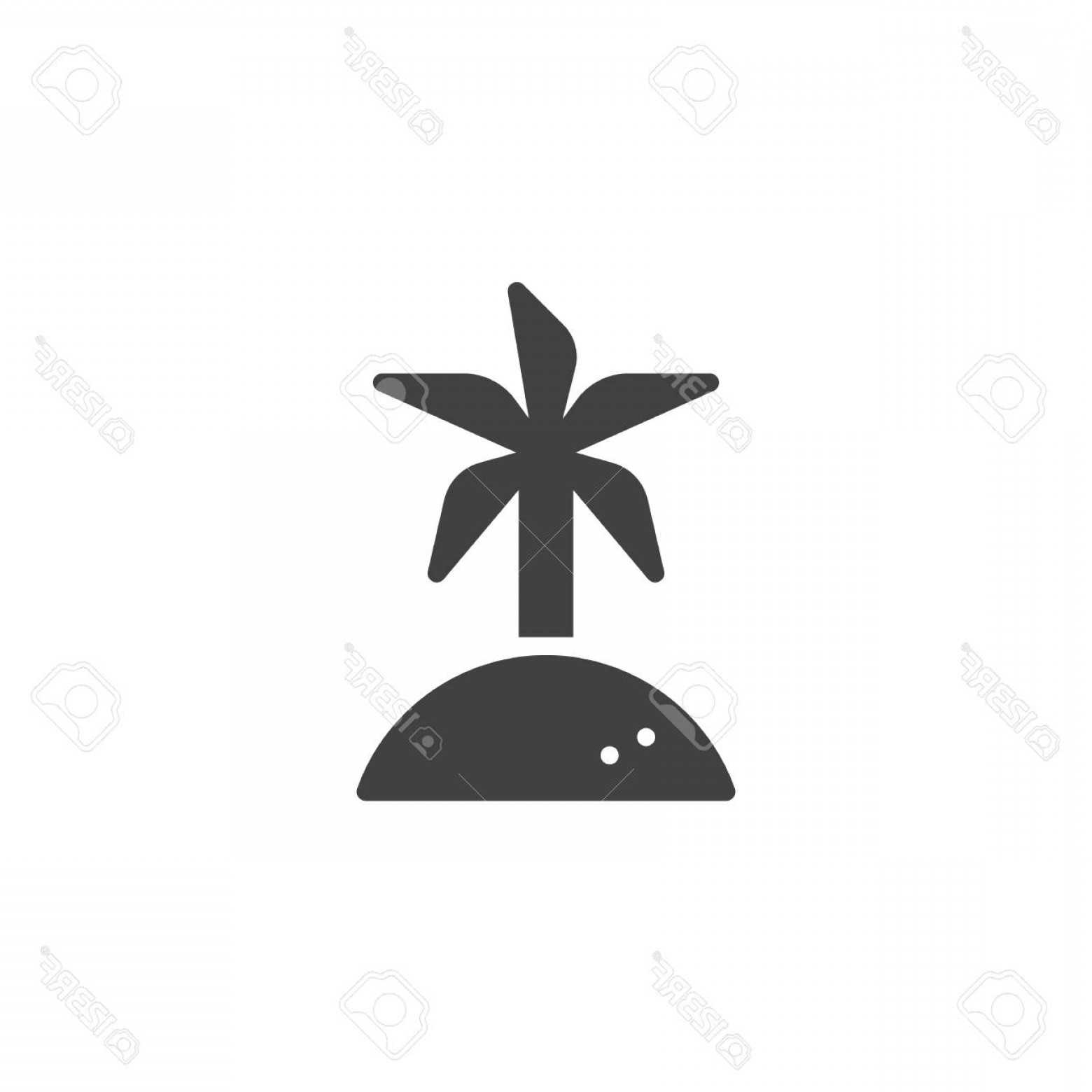 Simple Palm Tree Vector: Photostock Vector Coconut Palm Tree Vector Icon Filled Flat Sign For Mobile Concept And Web Design Island Travel Simpl