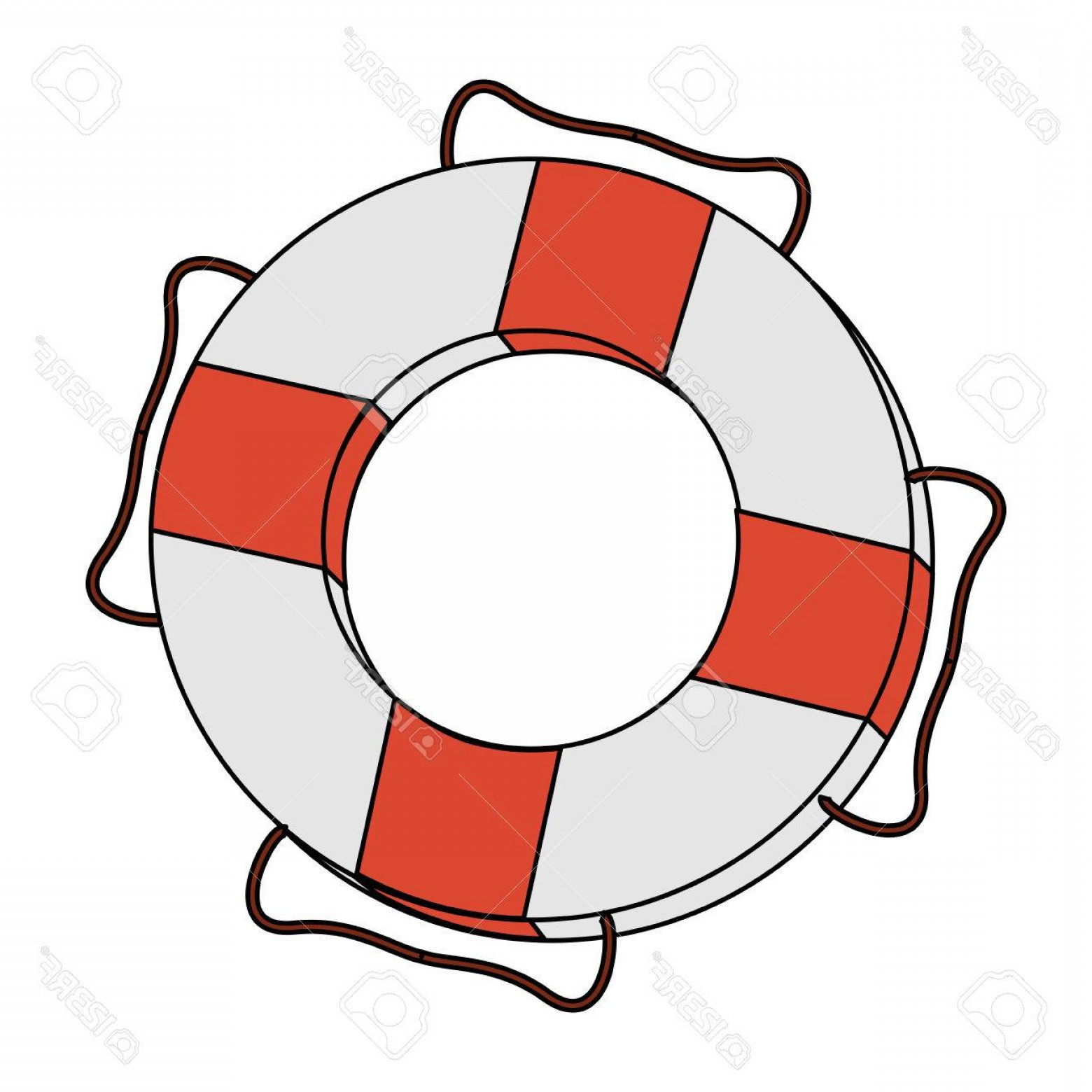 320 Vector: Photostock Vector Color Image Cartoon Inflatable Rings For Rescue Vector Illustration