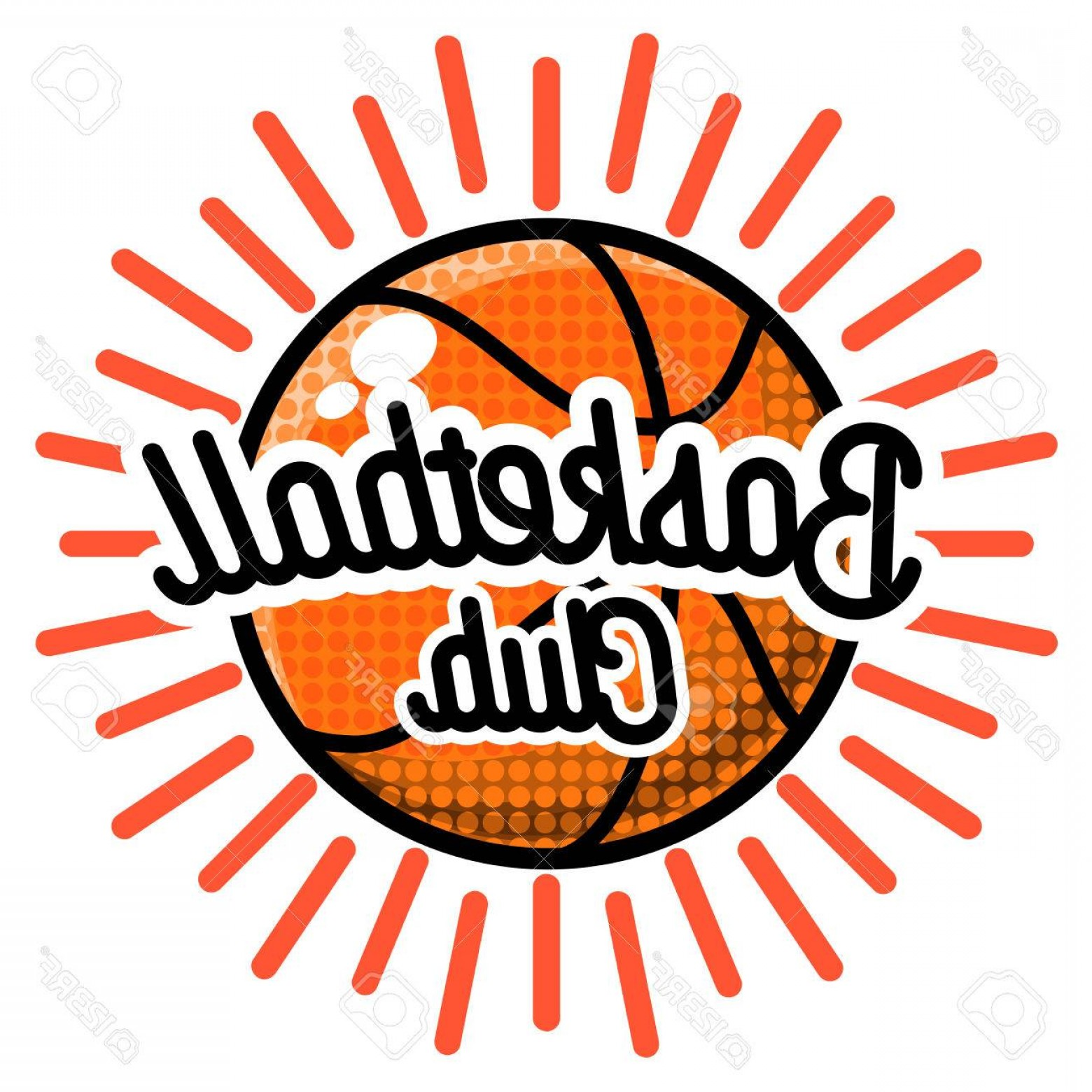 Vintage Basketball Vector: Photostock Vector Color Vintage Basketball Emblem Vector Illustration