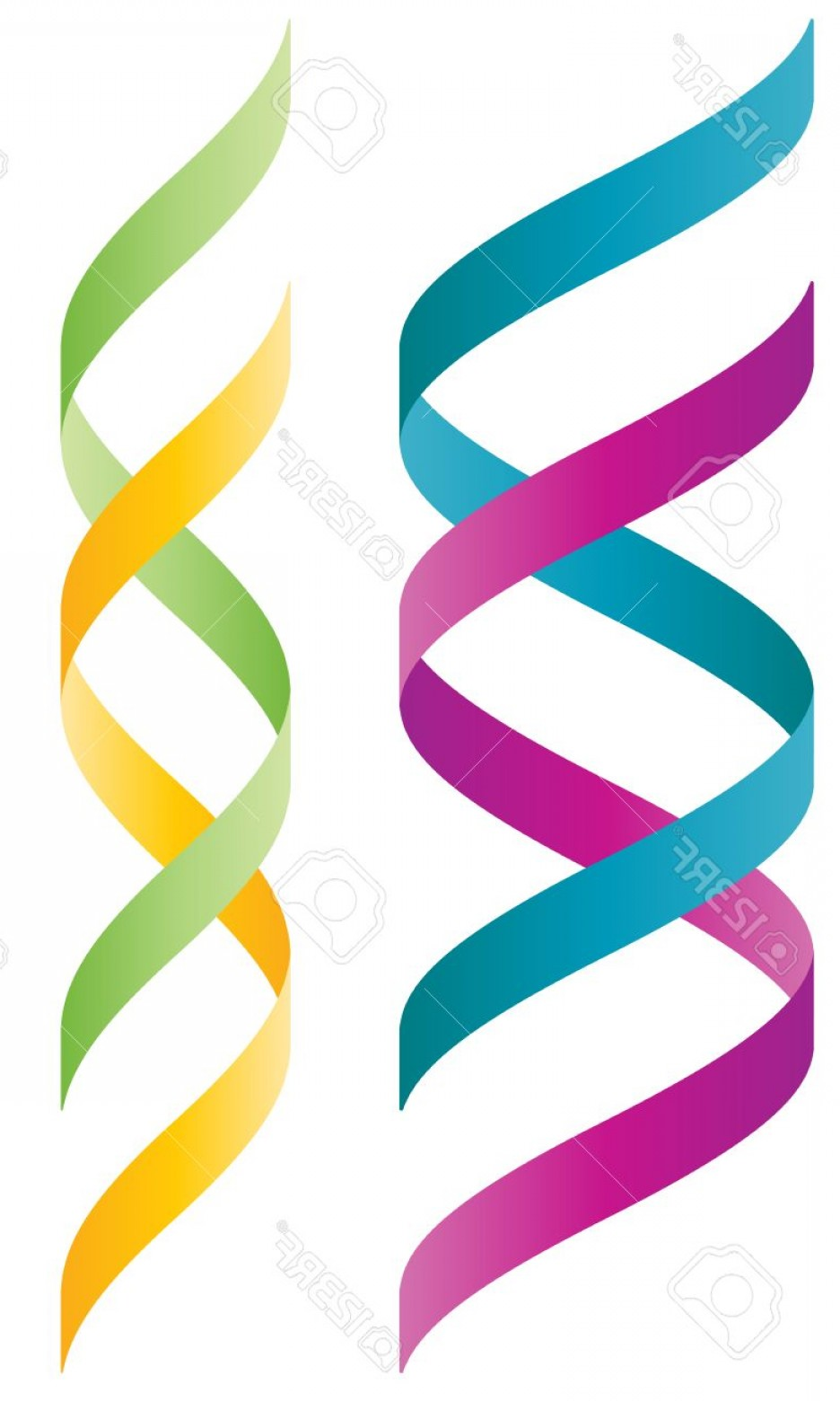 DNA Helix Vector: Photostock Vector Colorful D Double Helix Logo Wich Resembles To A Dna String