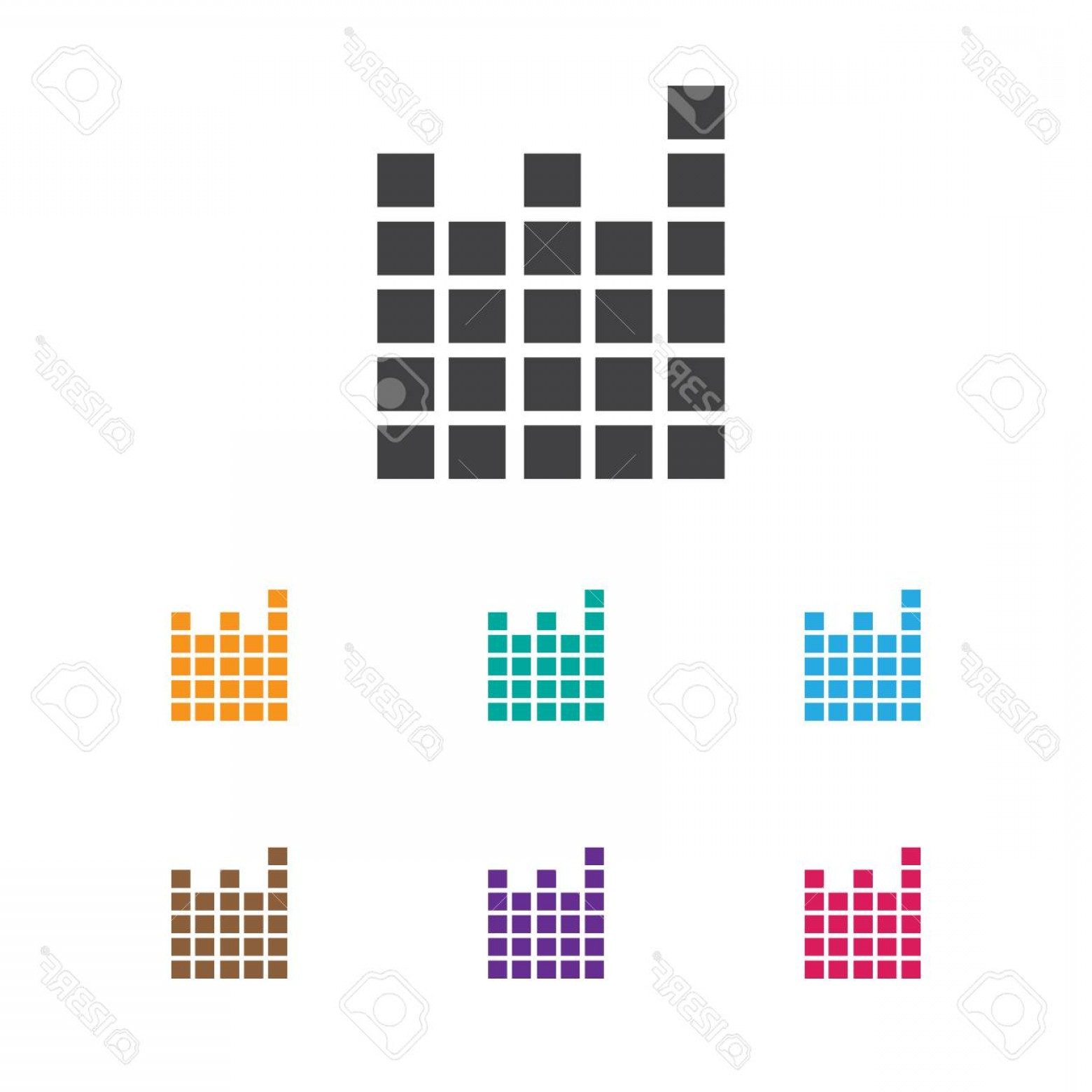 Frequency Icon Vector: Photostock Vector Colorful Frequency Icon