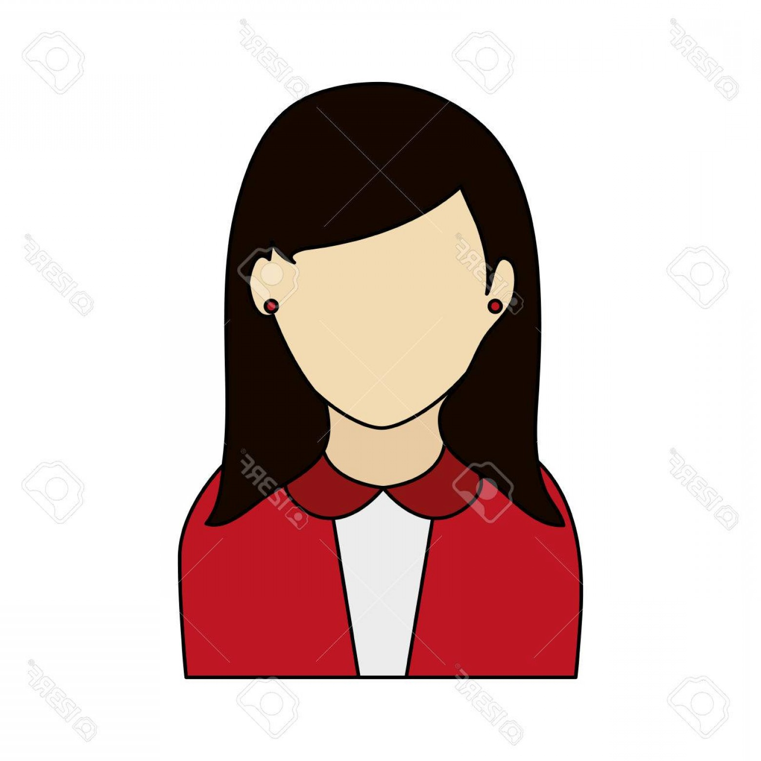 Vector Executive: Photostock Vector Colorful Graphic Half Body Faceless Woman With Executive Suit Vector Illustration