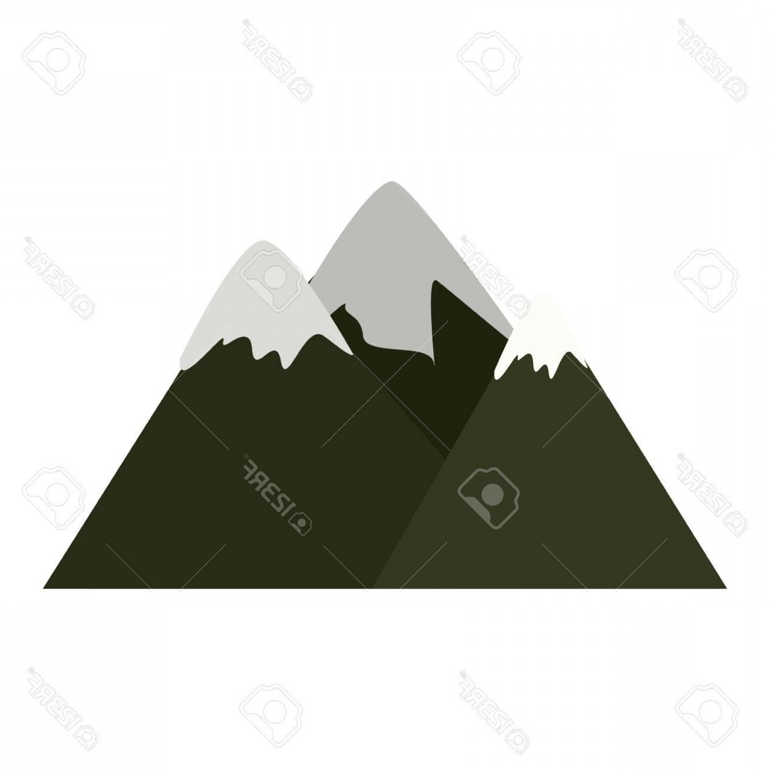 Snowy Mountain Vector Graphics: Photostock Vector Colorful Lanscape With Snowy Mountains Vector Illustration