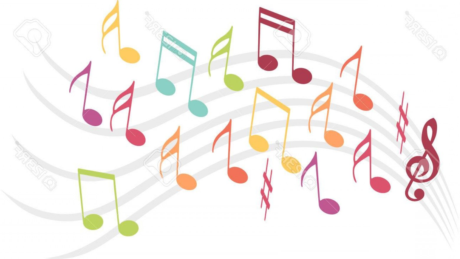 Dancing Musical Notes Vector: Photostock Vector Colorful Music Notes Sccm To Dance Were Ranks Of Music