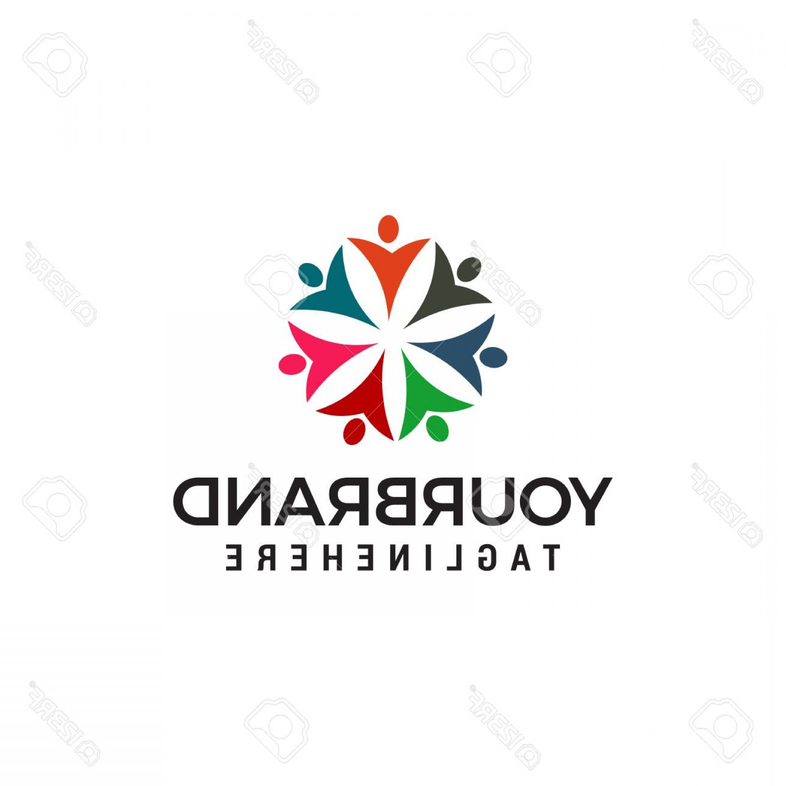 BBB Logo In Vector Form: Photostock Vector Community People Logo People Connect Logo Template Design