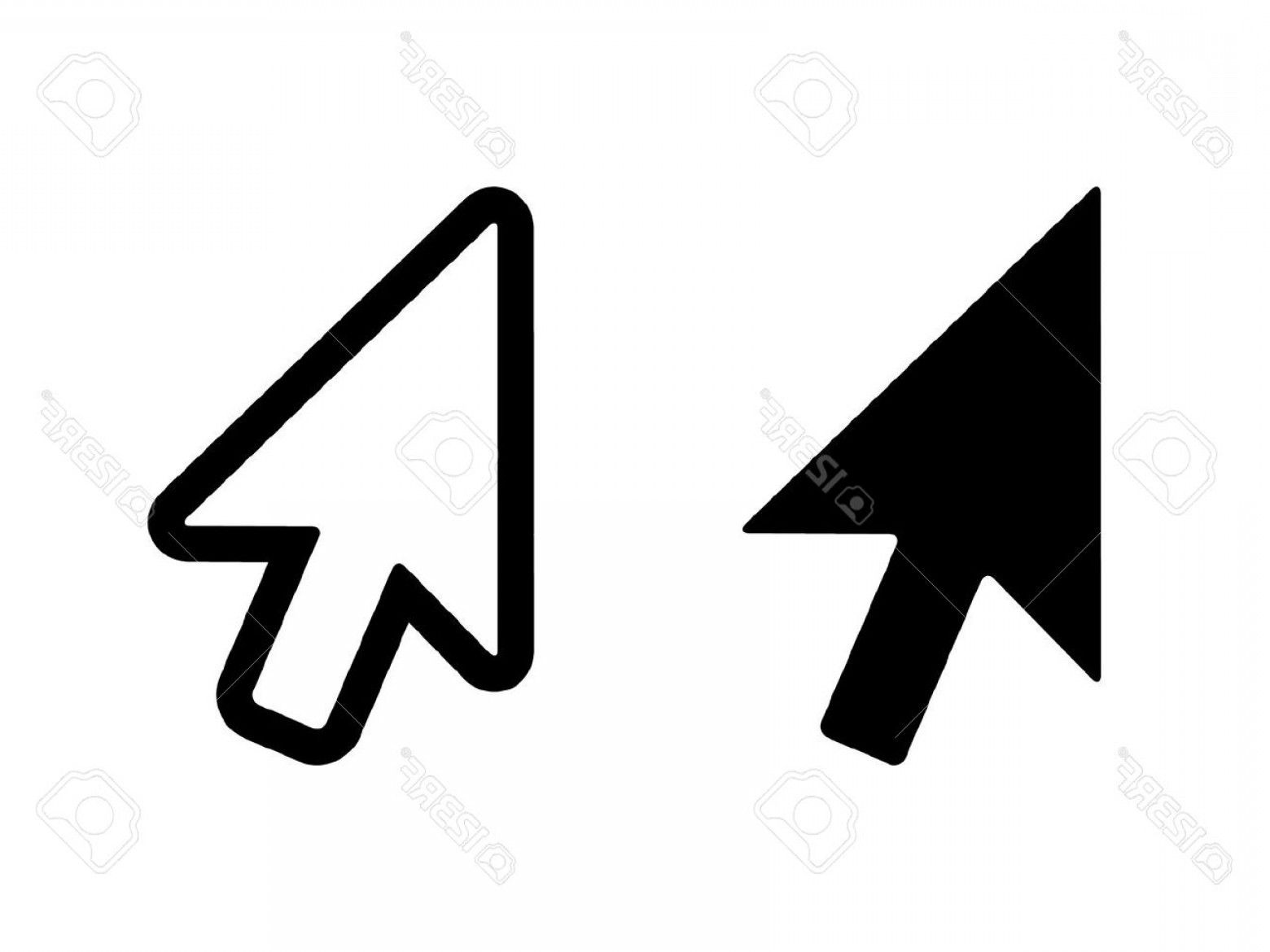 Computer Pointer Vector: Photostock Vector Computer Mouse Click Pointer Cursor Arrow Flat Icon For Apps And Websites
