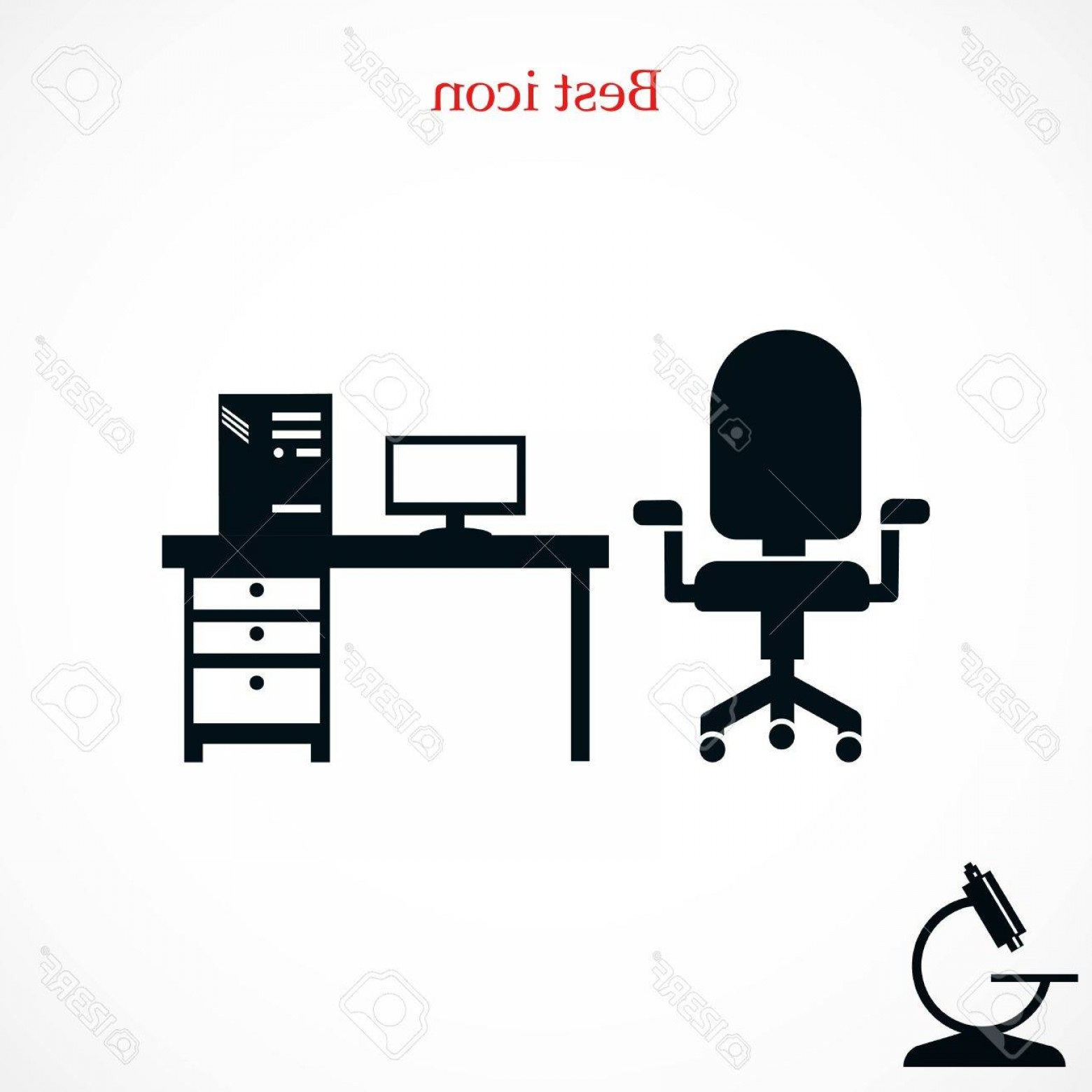 Computer Vector Icon Flat: Photostock Vector Computer Vector Illustration Icon Flat Design Best Vector Icon