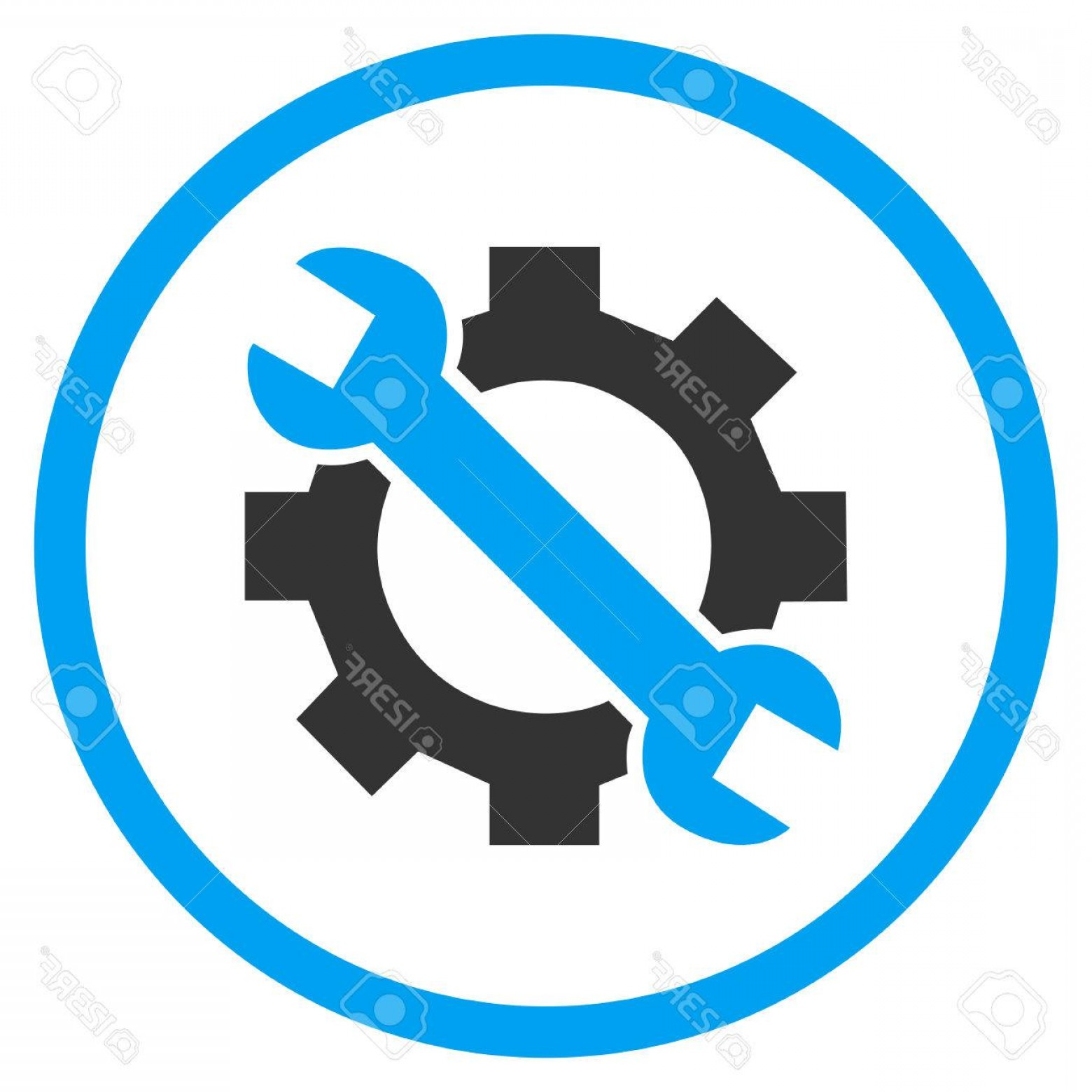 Vector Configuration: Photostock Vector Configuration Tools Vector Bicolor Icon Image Style Is A Flat Icon Symbol Inside A Circle Blue And G