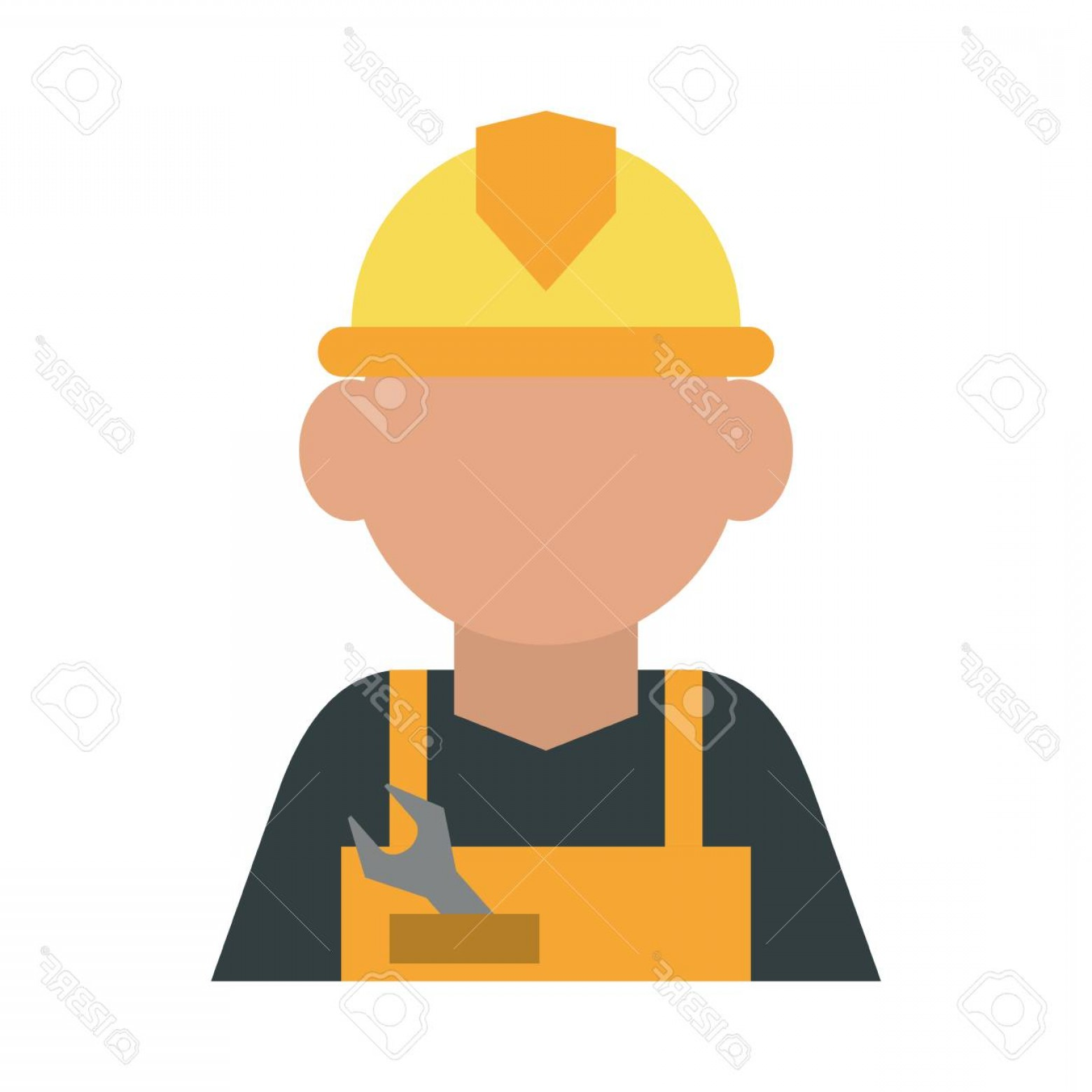 General Contractor Vector: Photostock Vector Construction Worker Builder Contractor Icon Image Vector Illustration Design