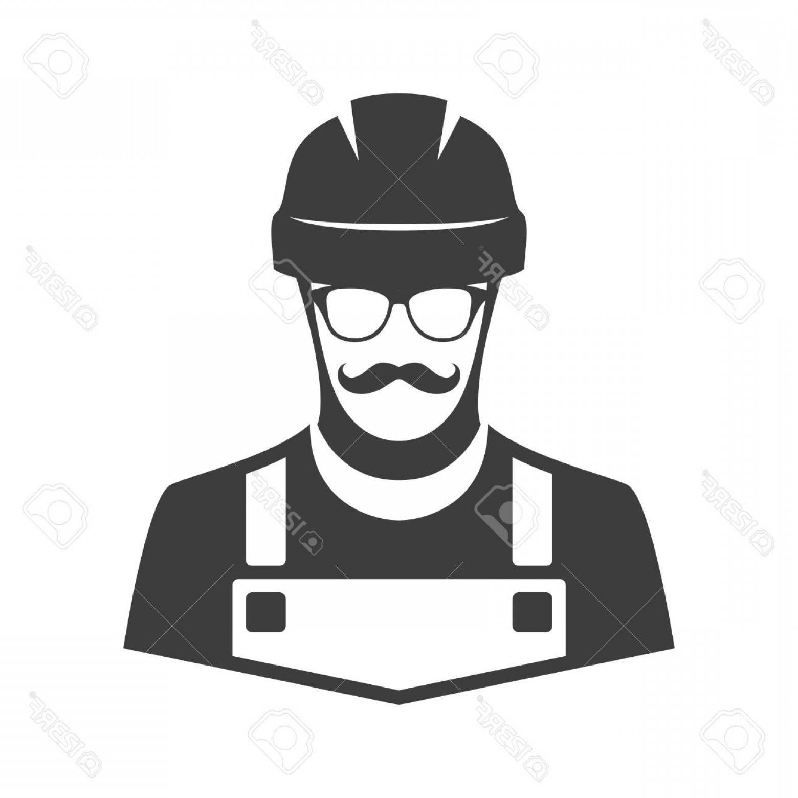 Worker Vector: Photostock Vector Construction Workers Icon Vector Worker Vector Illustration