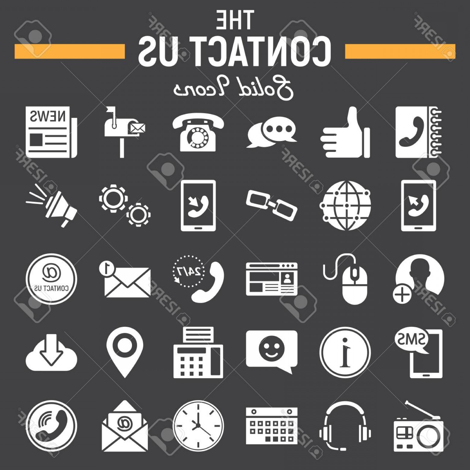 Contact Button Icons Vector Free: Photostock Vector Contact Us Solid Icon Set Web Button Symbols Collection Mobile And Support Vector Sketches Logo Illu