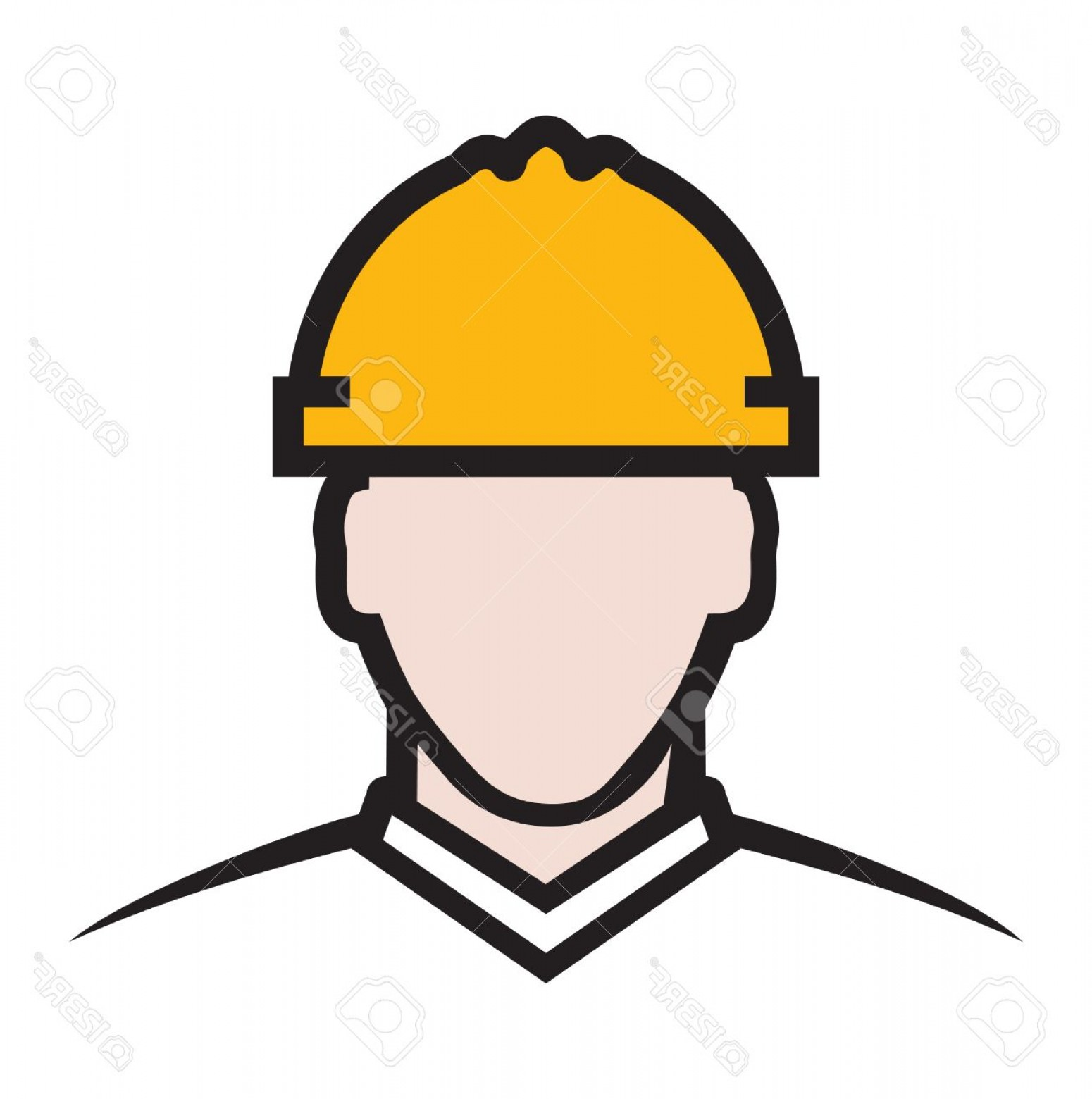 General Contractor Vector: Photostock Vector Contractor Vector Icon Construction Engineer