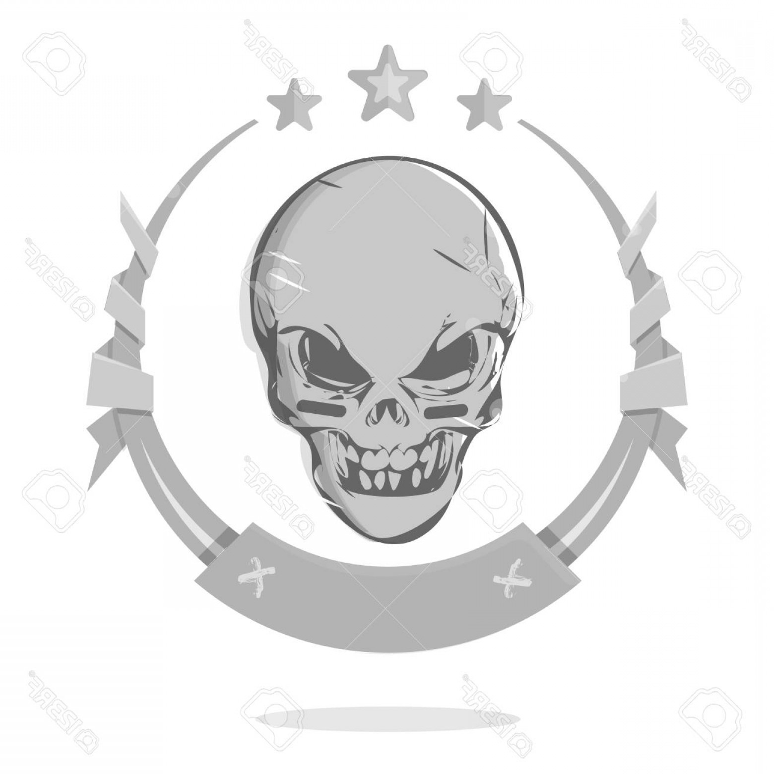 Cool Evil Vectors: Photostock Vector Cool Evil Skull Icon