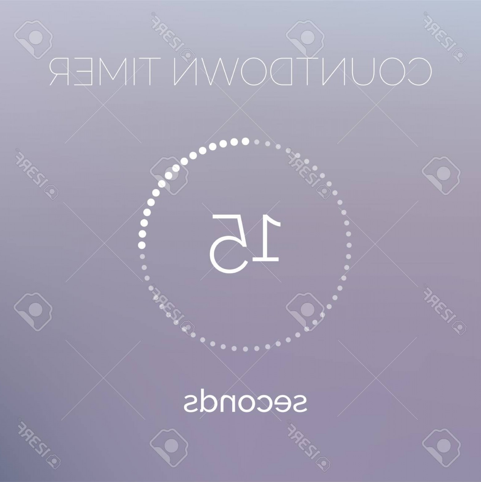Downloadable Vector Cross: Photostock Vector Countdown Timer Digital Downloading Counter With Circle Dots Line Vector Icon