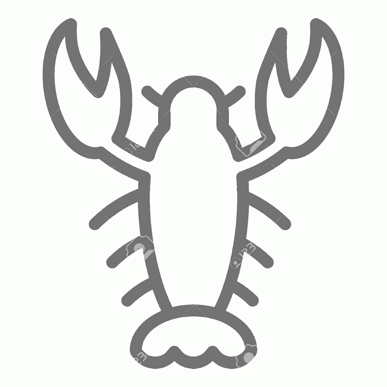 Crawfish Vector: Photostock Vector Crayfish Line Icon Crawfish Vector Illustration Isolated On White Seafood Outline Style Design Desig
