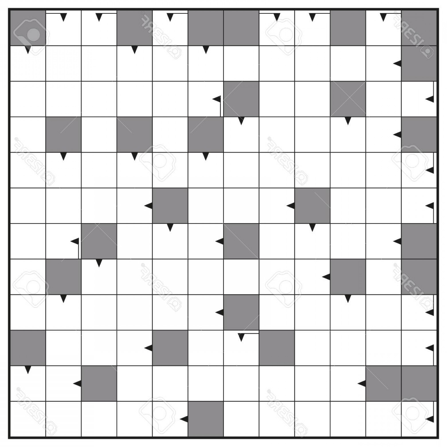 Puzzle In Vector Format: Photostock Vector Crossword Blank Crossword Puzzle Pattern Square Format Template To Insert Any Words With One To Twel