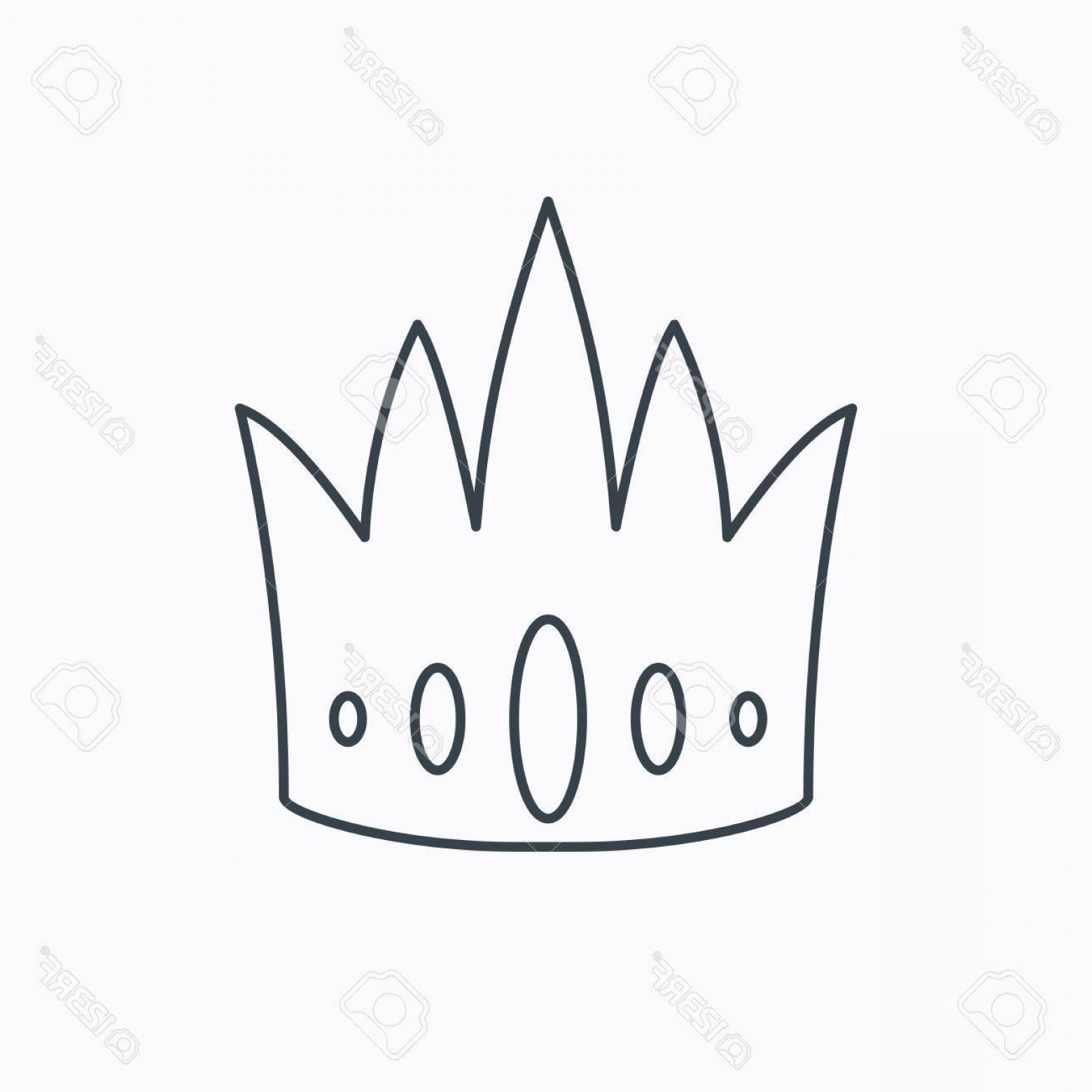 Crown White Outline Vector: Photostock Vector Crown Icon Royal King Hat Sign Vip Symbol Linear Outline Icon On White Background Vector
