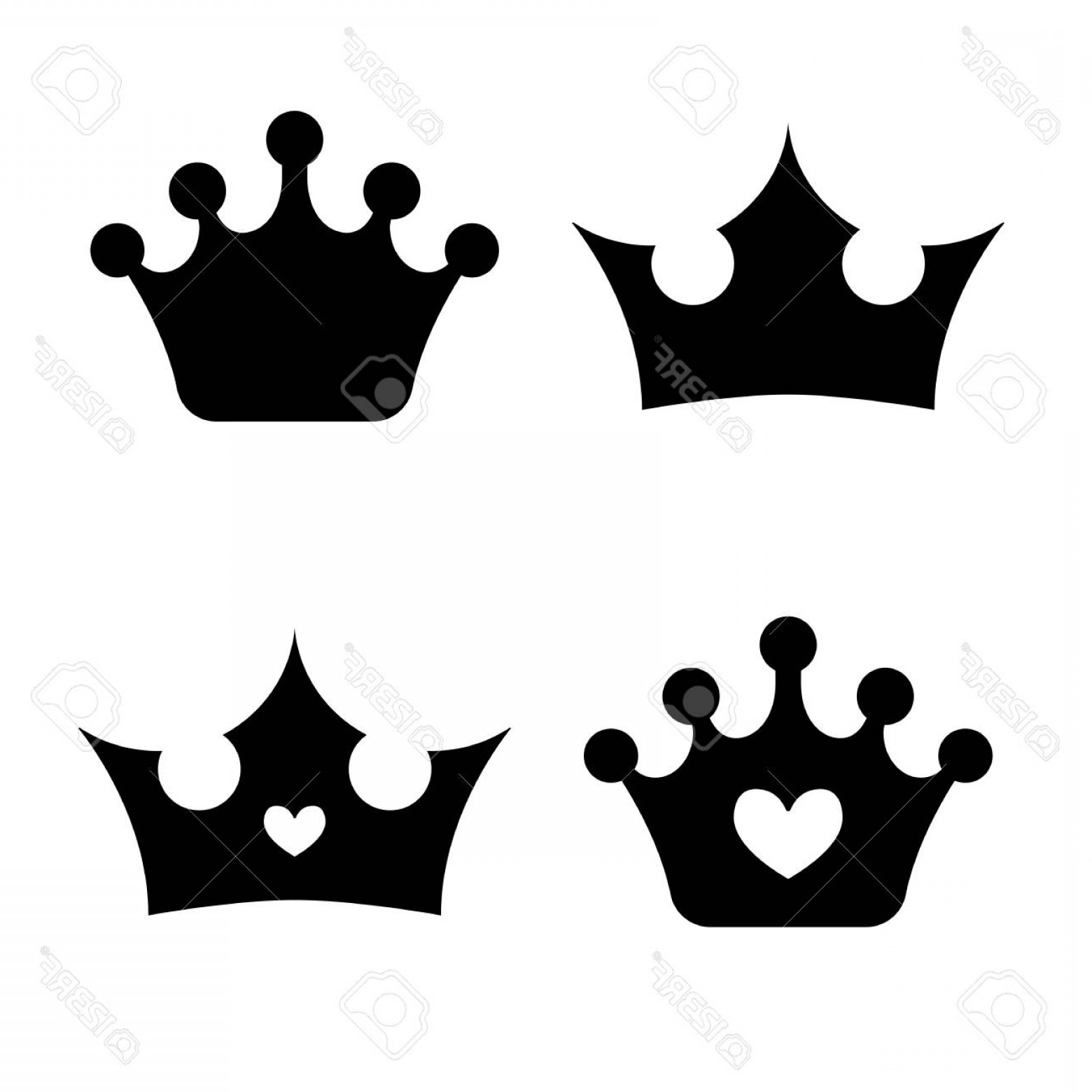 Princess Crown Vector Graphic: Photostock Vector Crown Icons Princess Crown Vector Illustration Silhouettes Flat Style