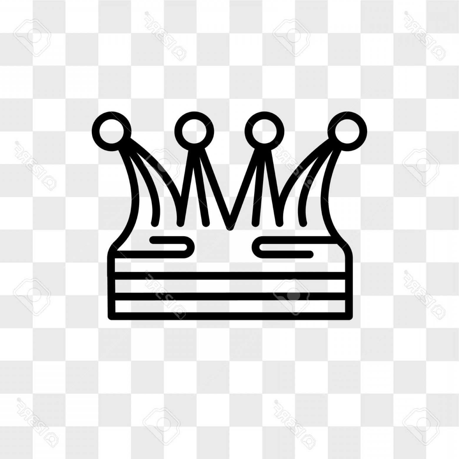 Transparent Queen Crown Vector: Photostock Vector Crown Vector Icon Isolated On Transparent Background Crown Logo Concept