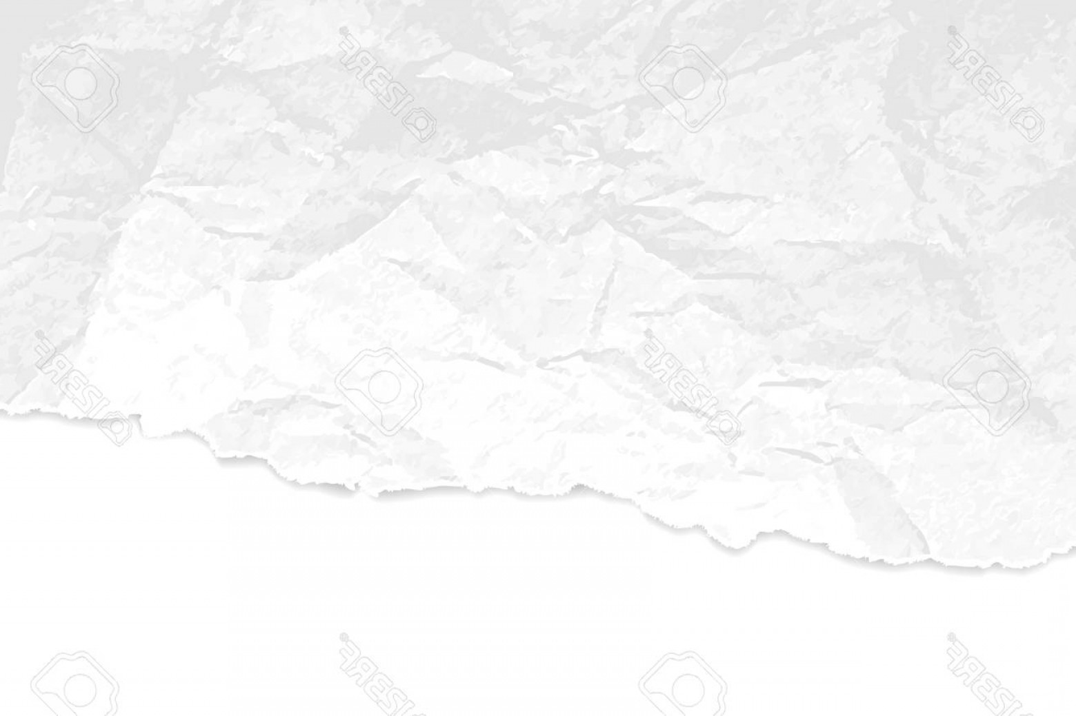 Crinkled Paper Vector: Photostock Vector Crumpled Paper Texture With Torn Edges Abstract White Grey Background
